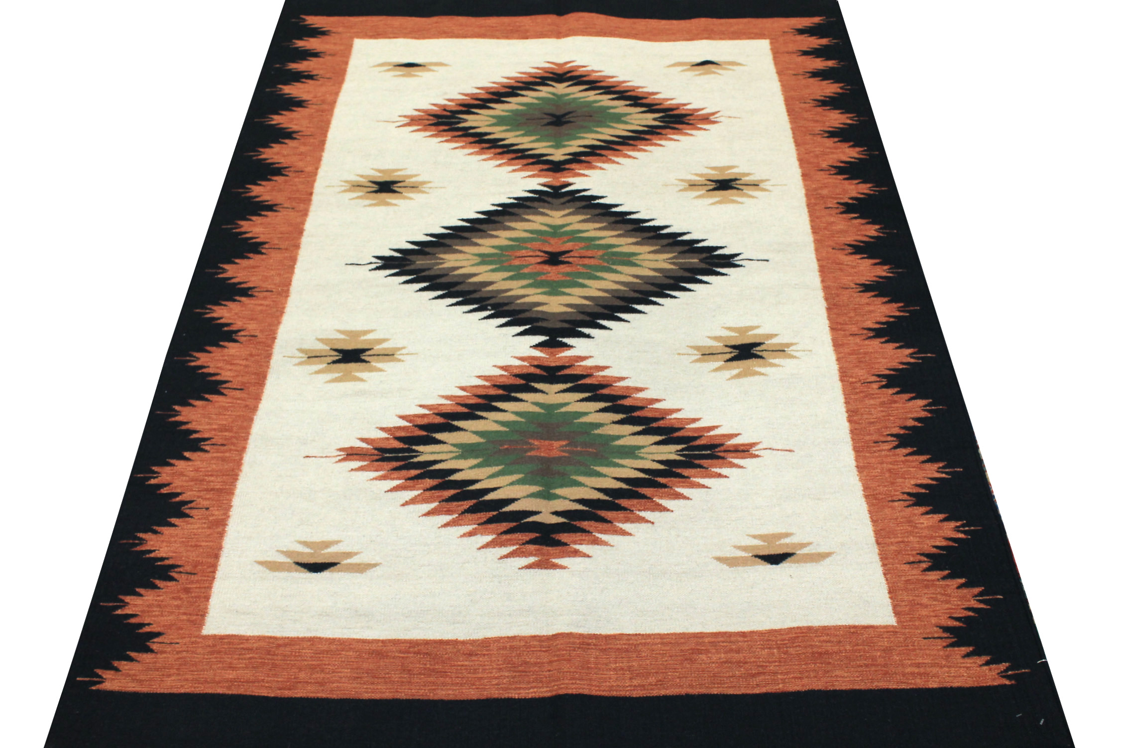 5x7/8 Flat Weave Hand Knotted Wool Area Rug - MR14174