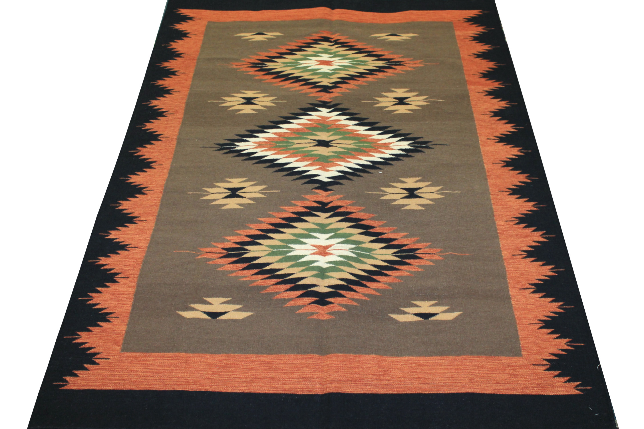 5x7/8 Flat Weave Hand Knotted Wool Area Rug - MR14175