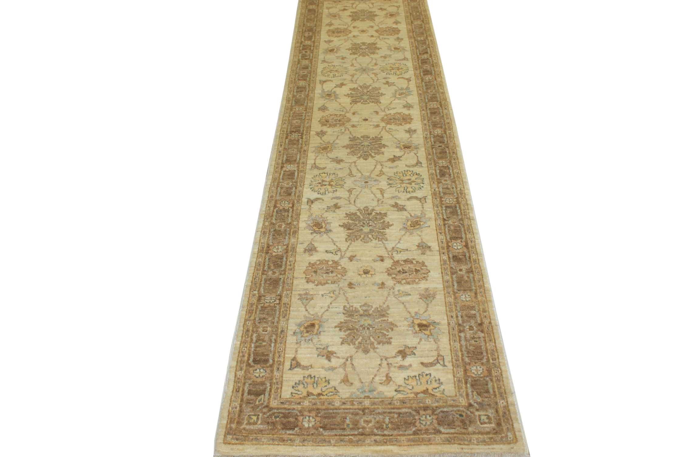 10 ft. Runner Peshawar Hand Knotted Wool Area Rug - MR14182