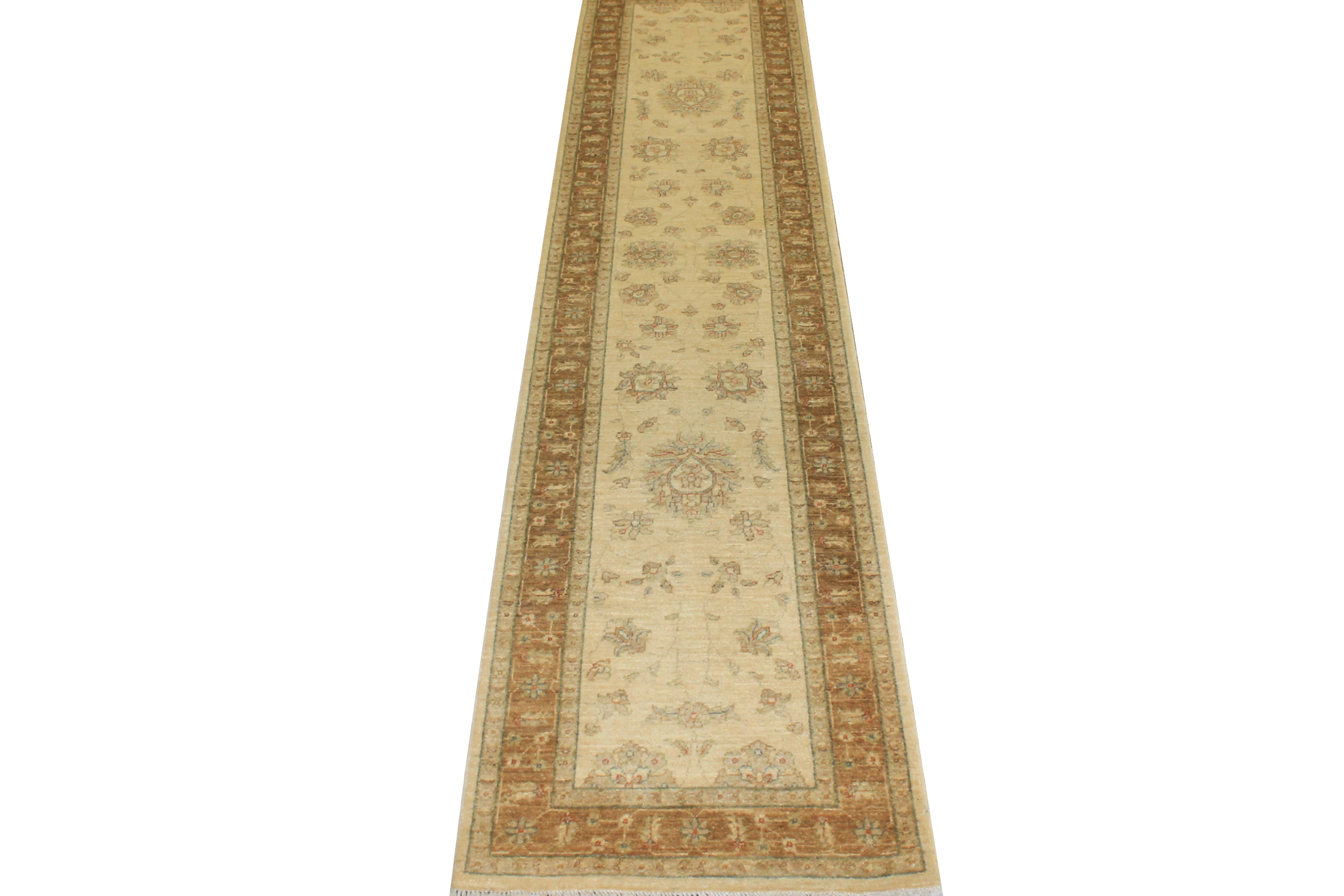 12 ft. Runner Peshawar Hand Knotted Wool Area Rug - MR14232