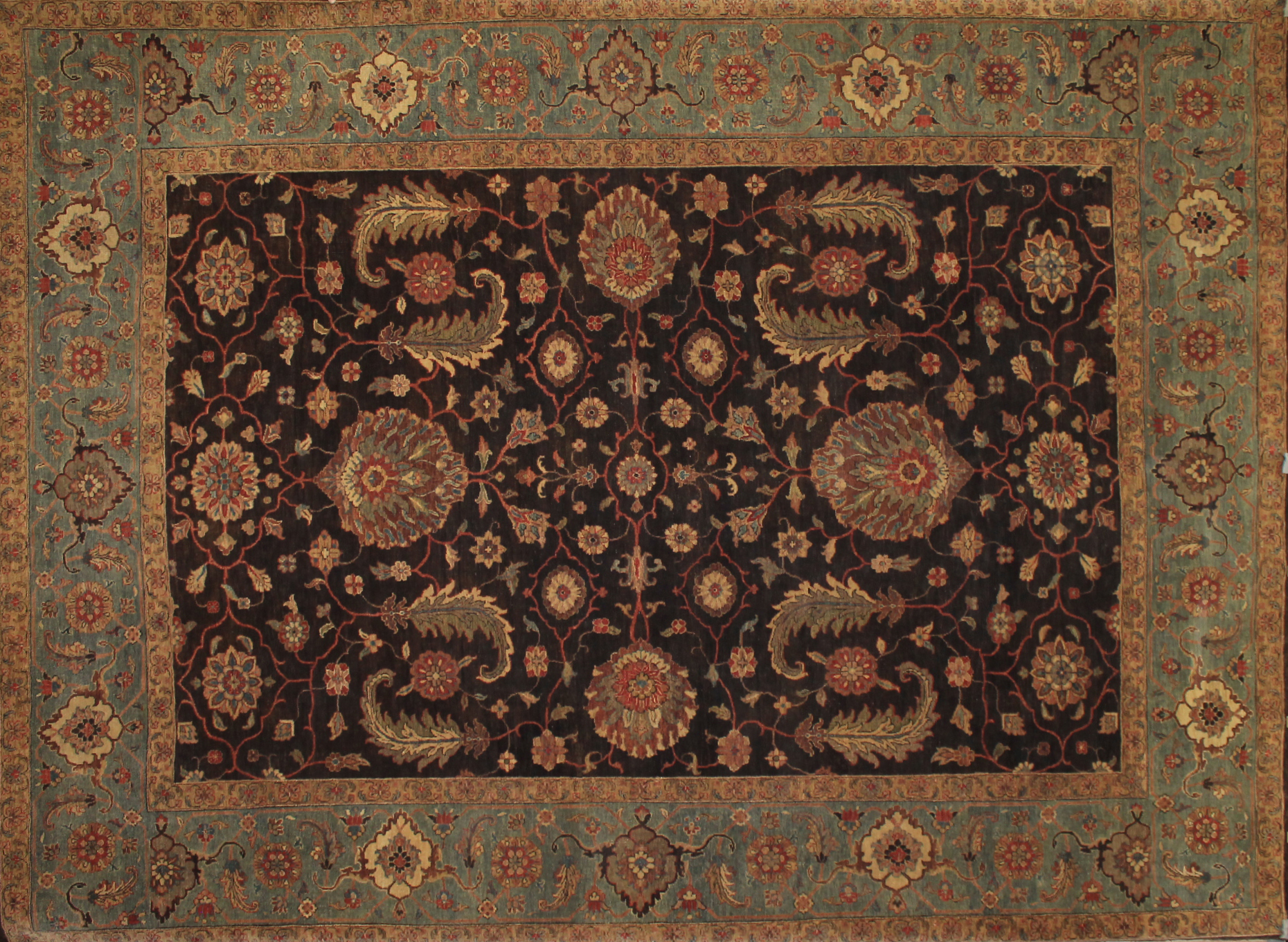 9x12 Antique Revival Hand Knotted Wool Area Rug - MR14307