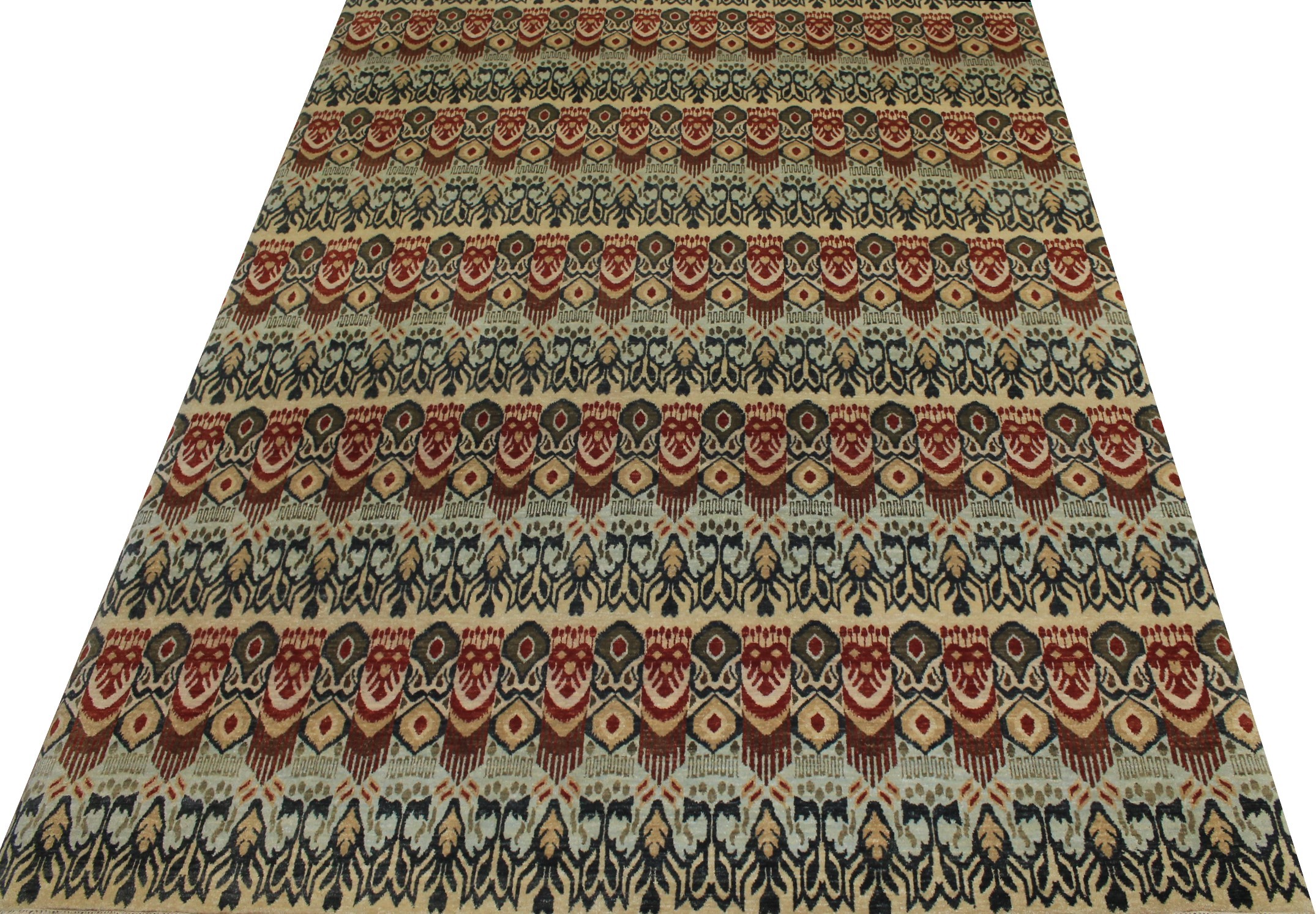 9x12 Contemporary Hand Knotted Wool Area Rug - MR14318