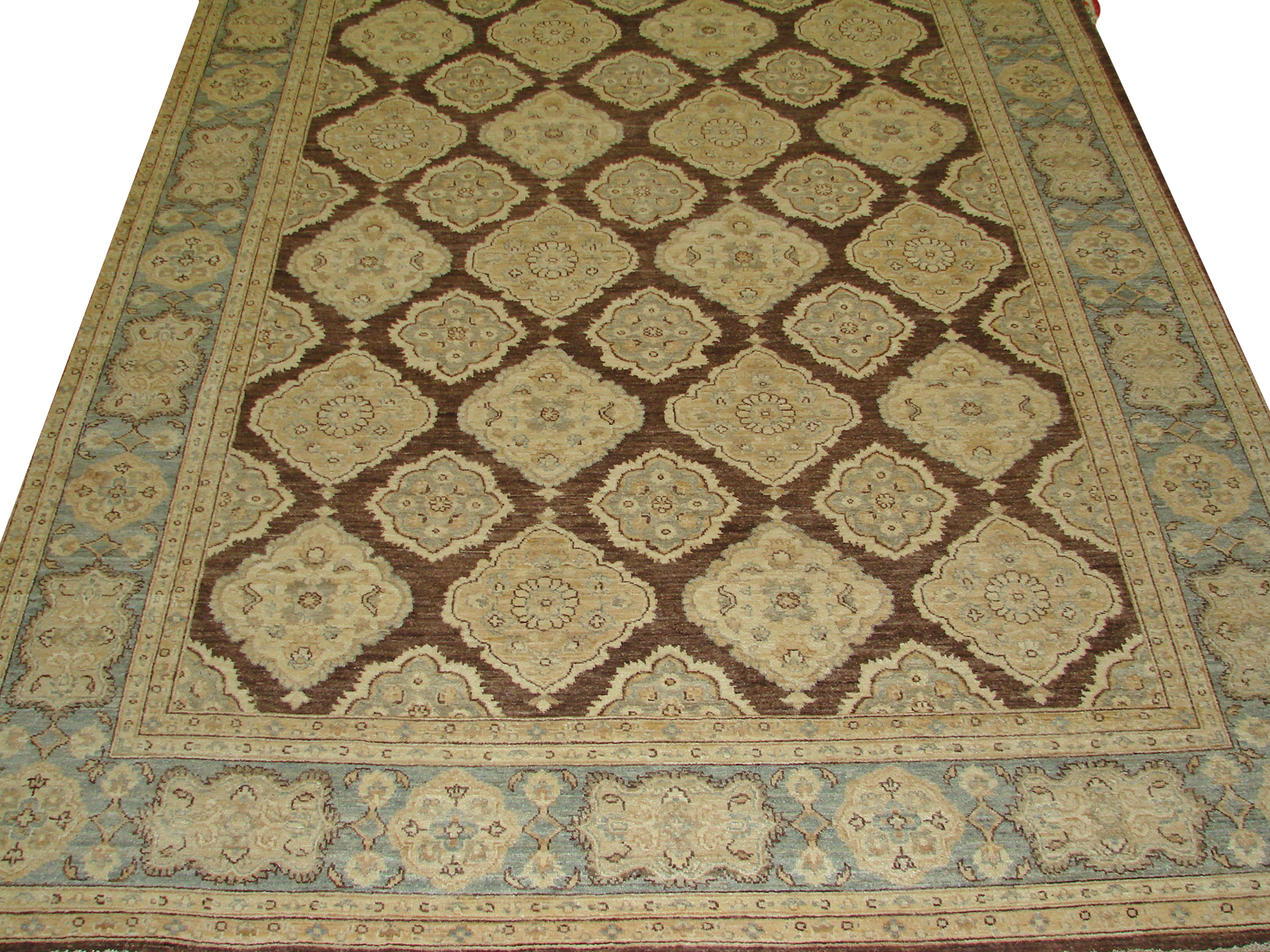 8x10 Peshawar Hand Knotted Wool Area Rug - MR14371