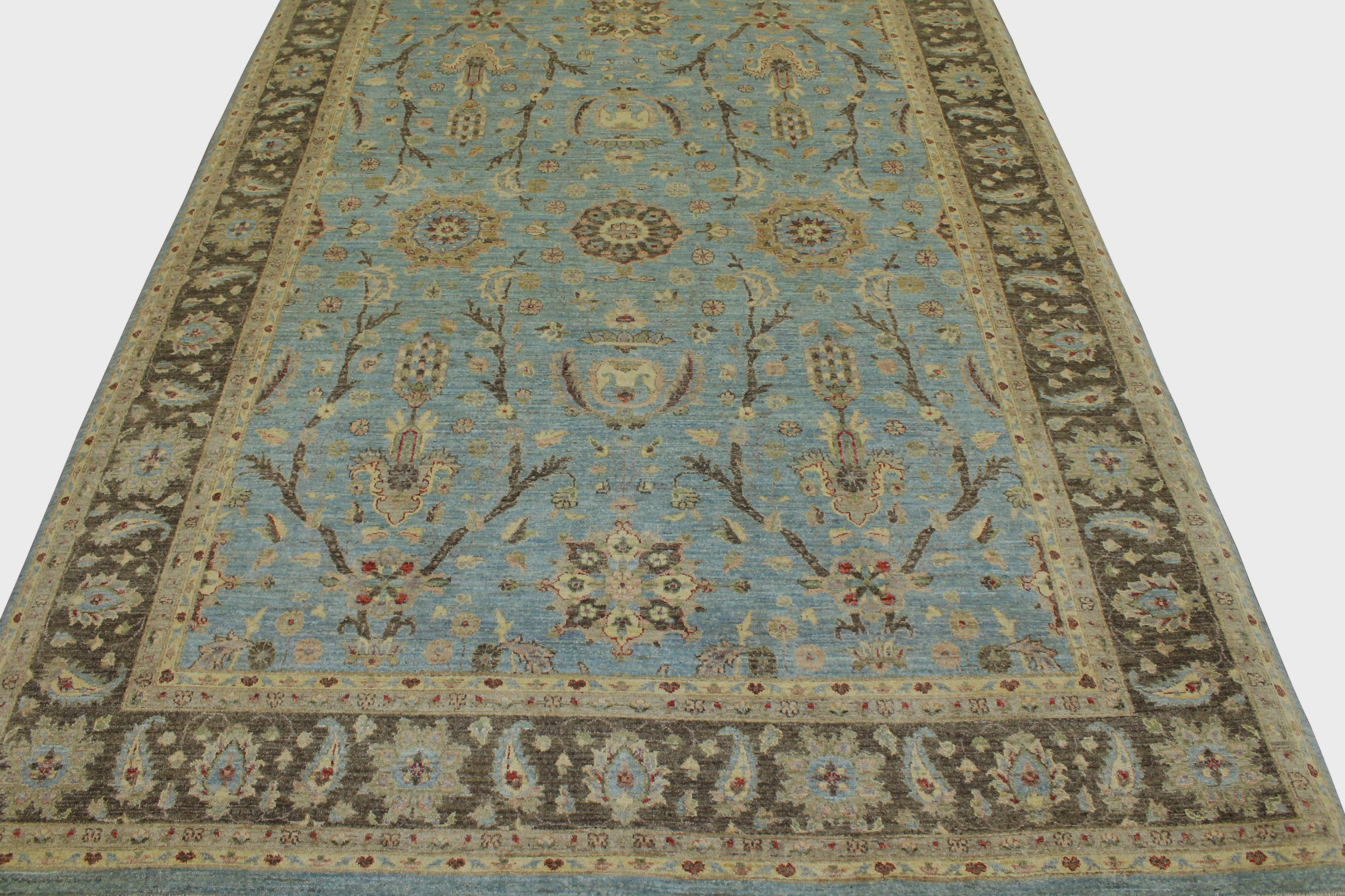 9x12 Peshawar Hand Knotted Wool Area Rug - MR14375