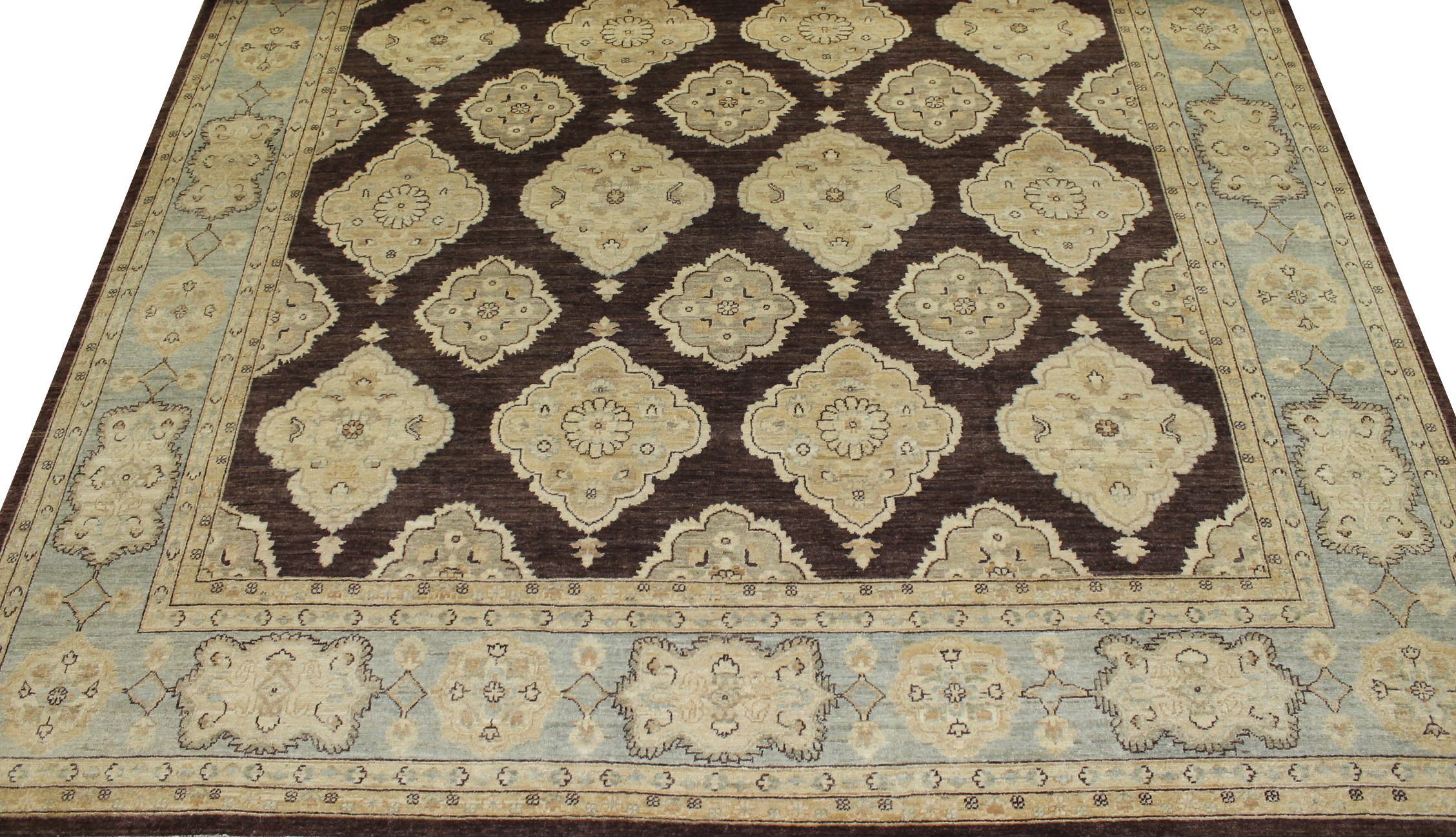 10x14 Peshawar Hand Knotted Wool Area Rug - MR14377