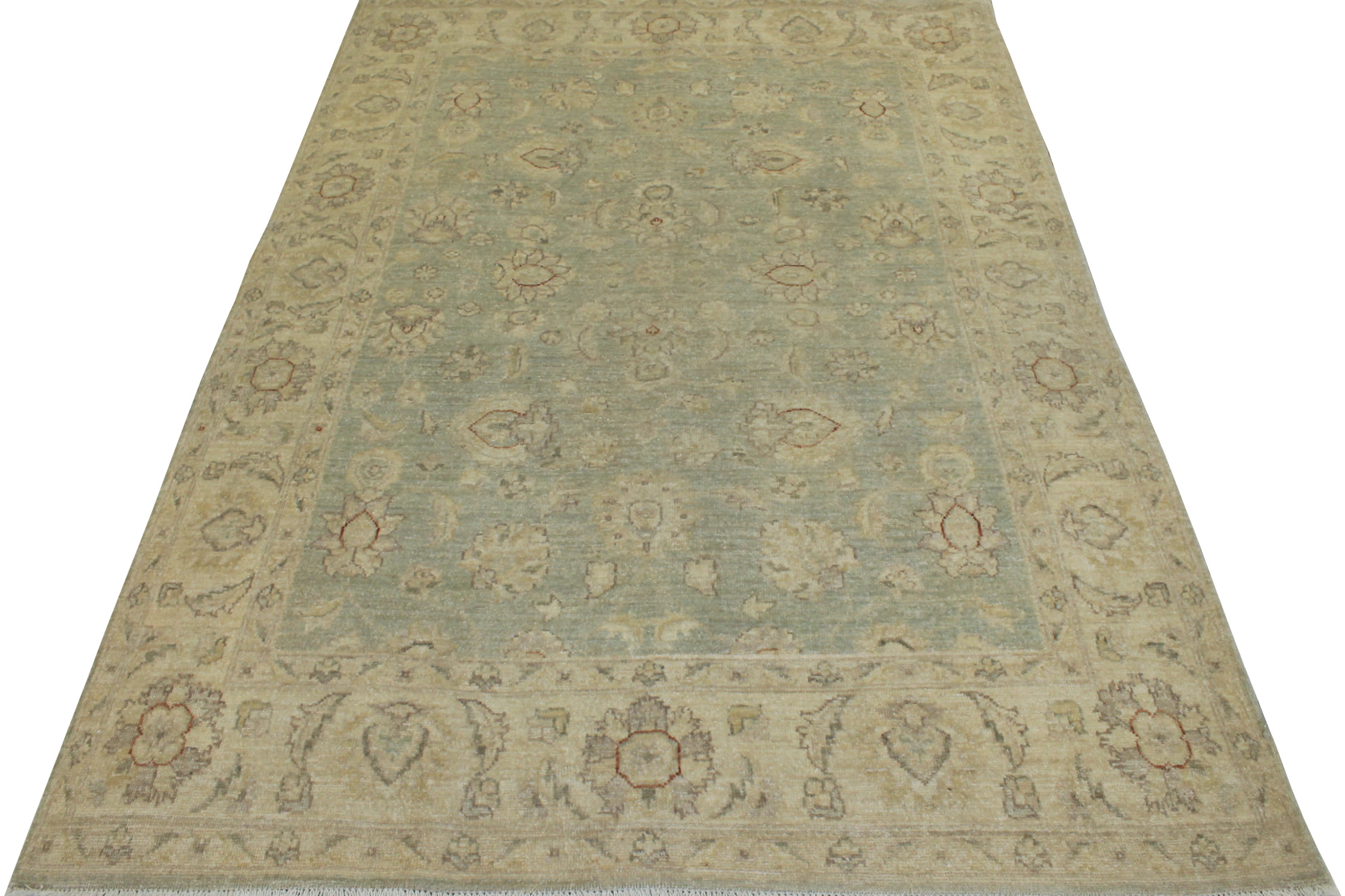 5x7/8 Peshawar Hand Knotted Wool Area Rug - MR14465