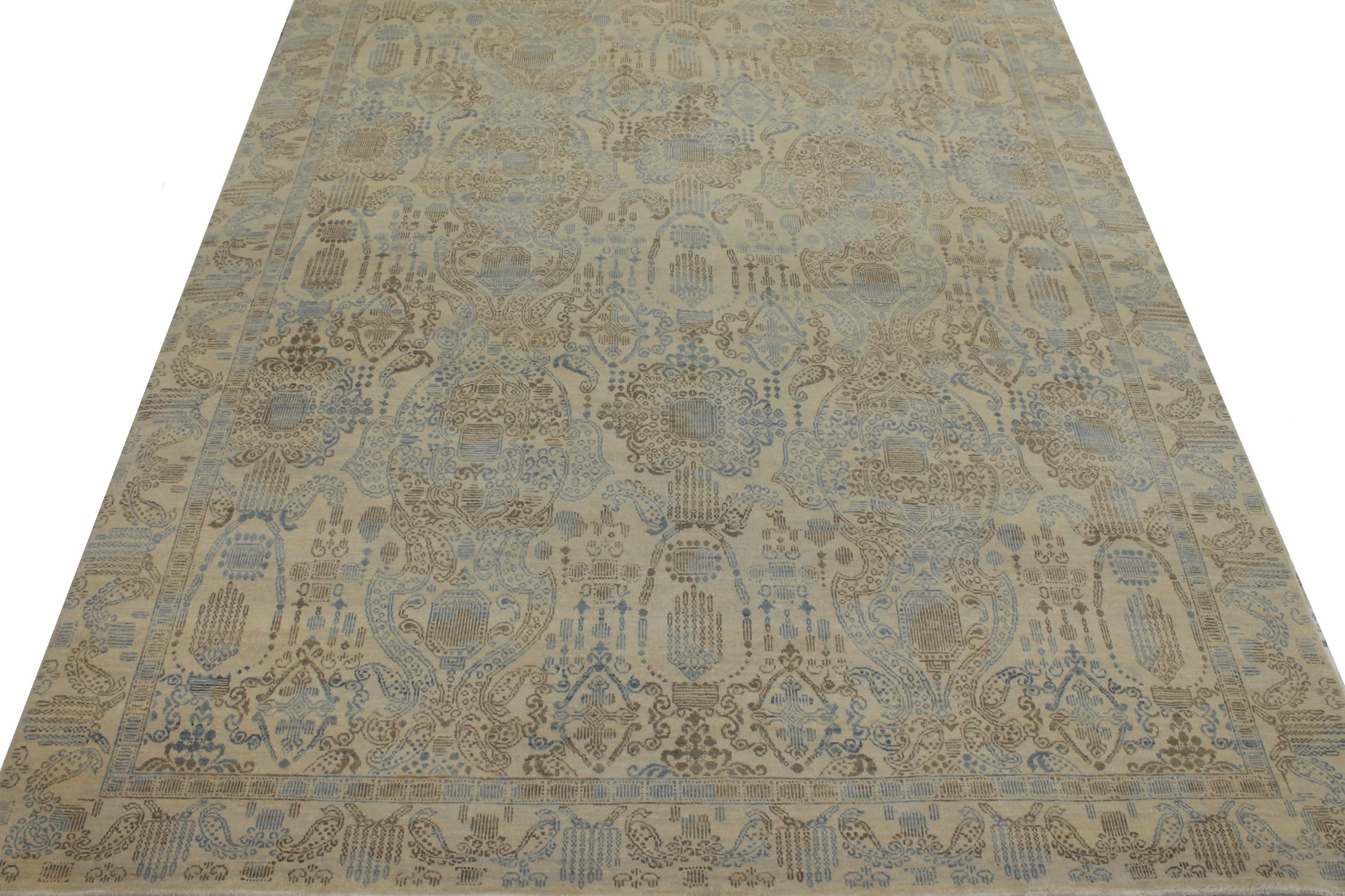 8x10 Contemporary Hand Knotted Wool Area Rug - MR14548