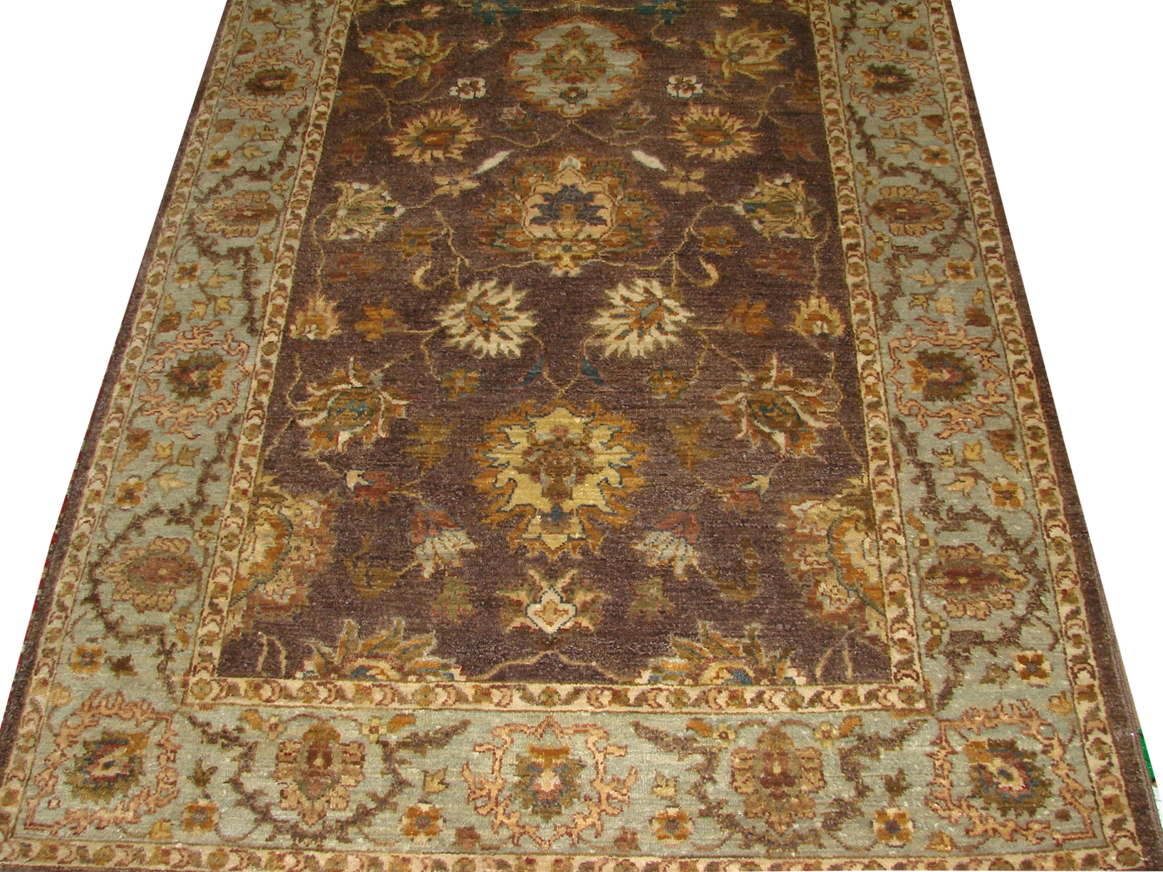 4x6 Traditional Hand Knotted Wool Area Rug - MR14639