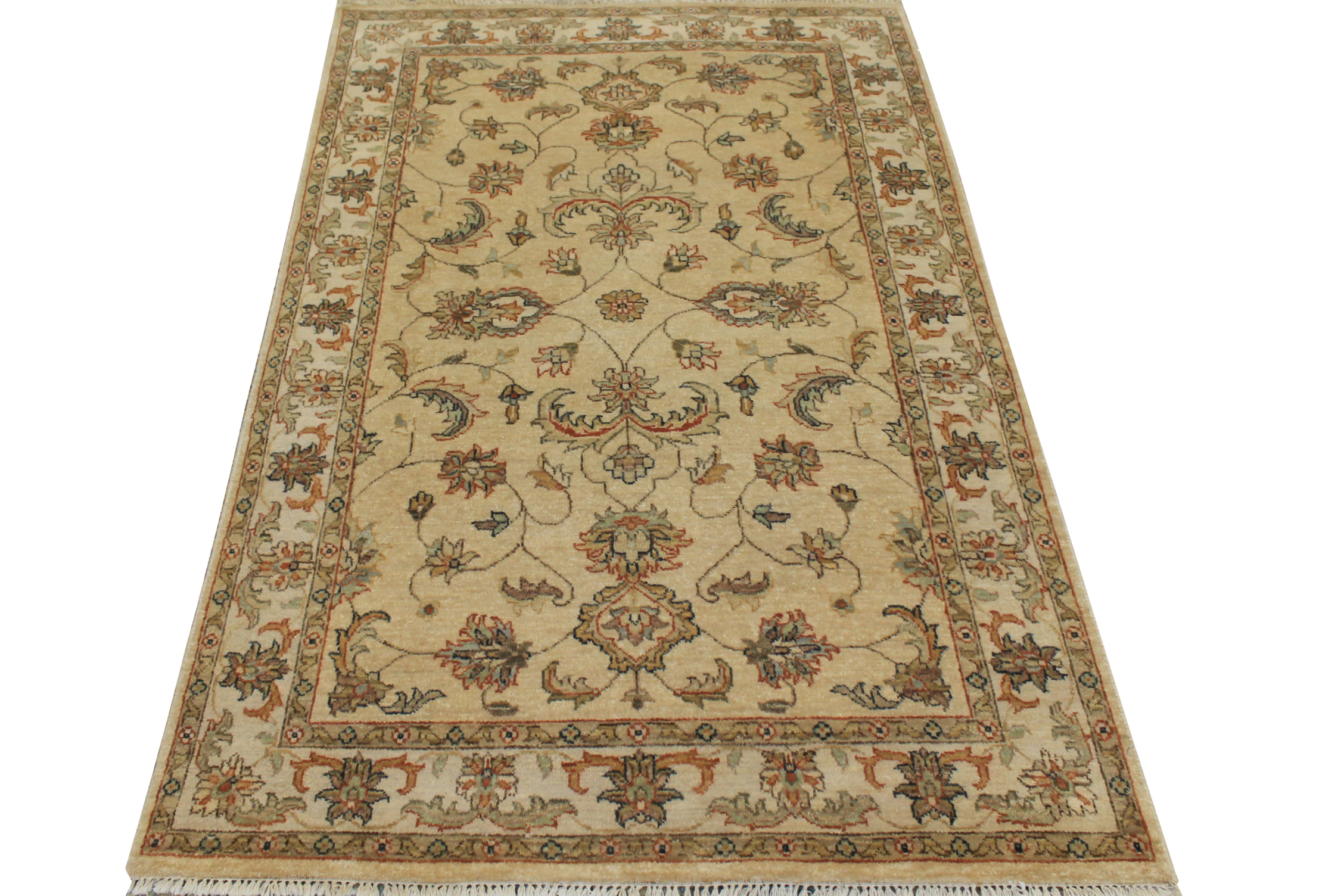 4x6 Traditional Hand Knotted Wool Area Rug - MR14708