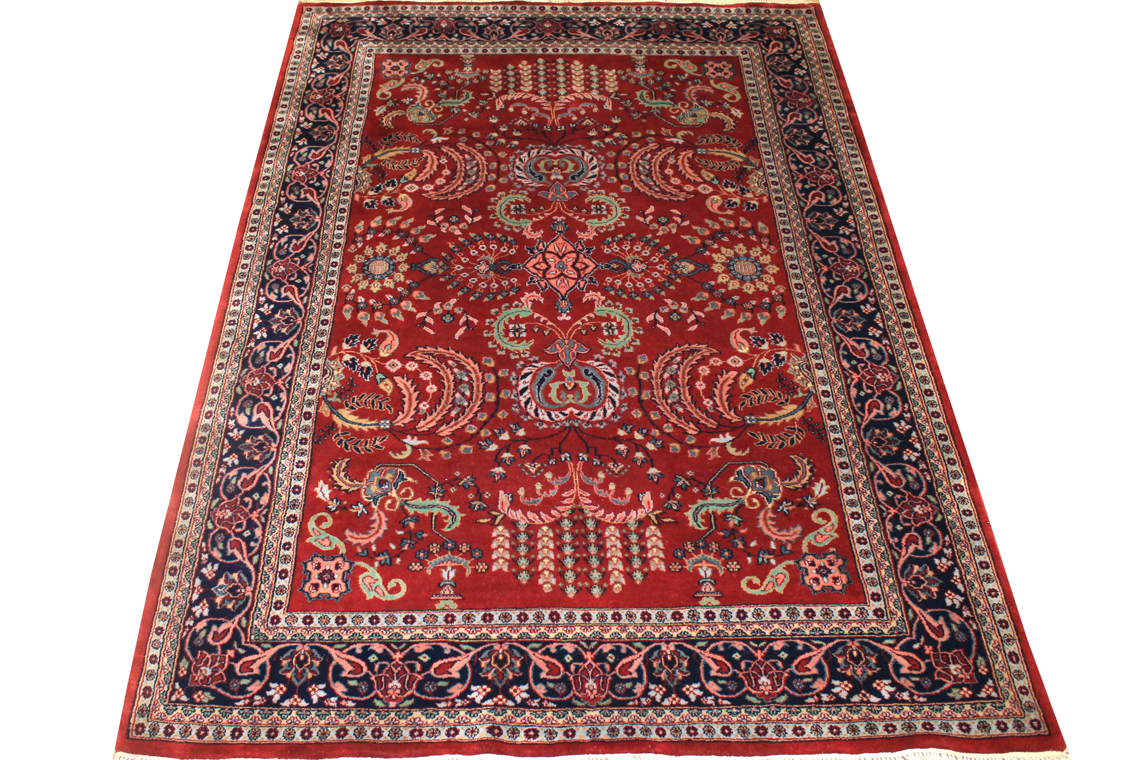 5x7/8 Traditional Hand Knotted Wool Area Rug - MR1474