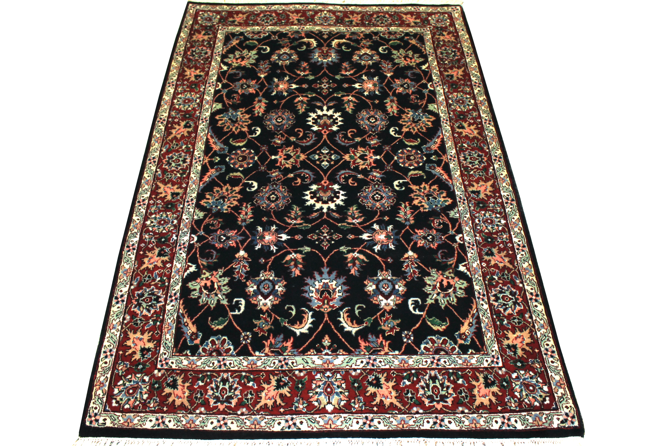 4x6 Traditional Hand Knotted Wool Area Rug - MR1477