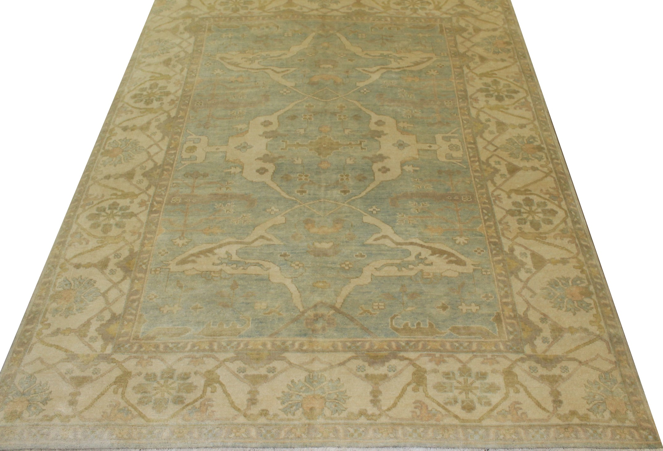 8x10 Oushak Hand Knotted Wool Area Rug - MR14790