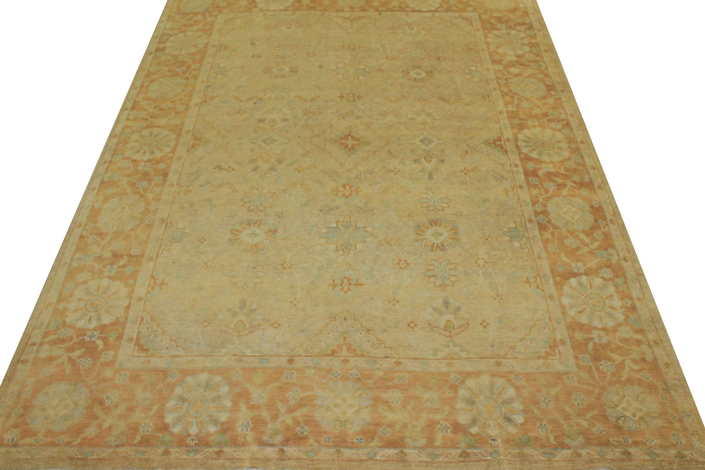 8x10 Oushak Hand Knotted Wool Area Rug - MR14859