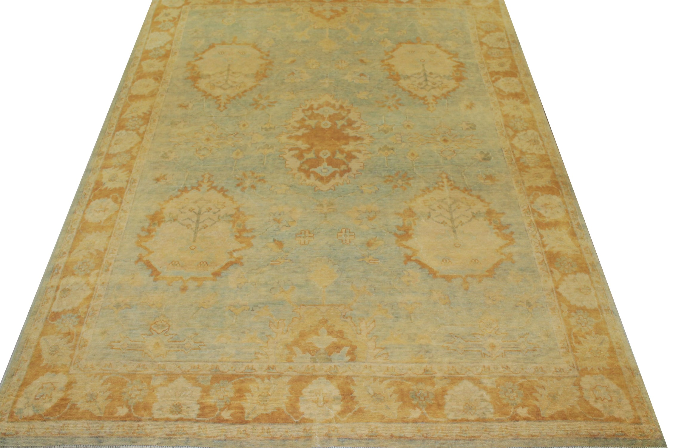 8x10 Oushak Hand Knotted Wool Area Rug - MR14860