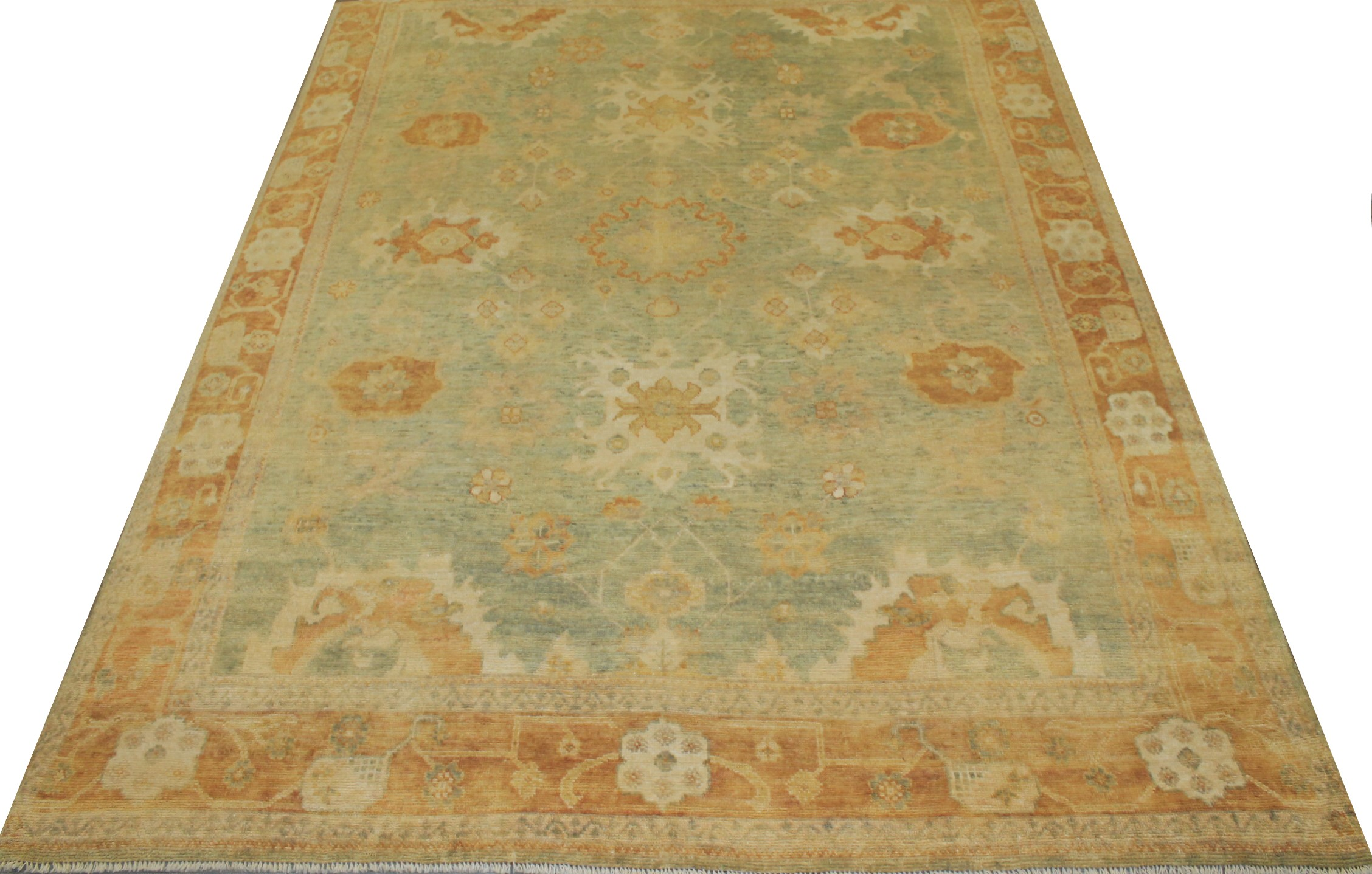 8x10 Oushak Hand Knotted Wool Area Rug - MR14861