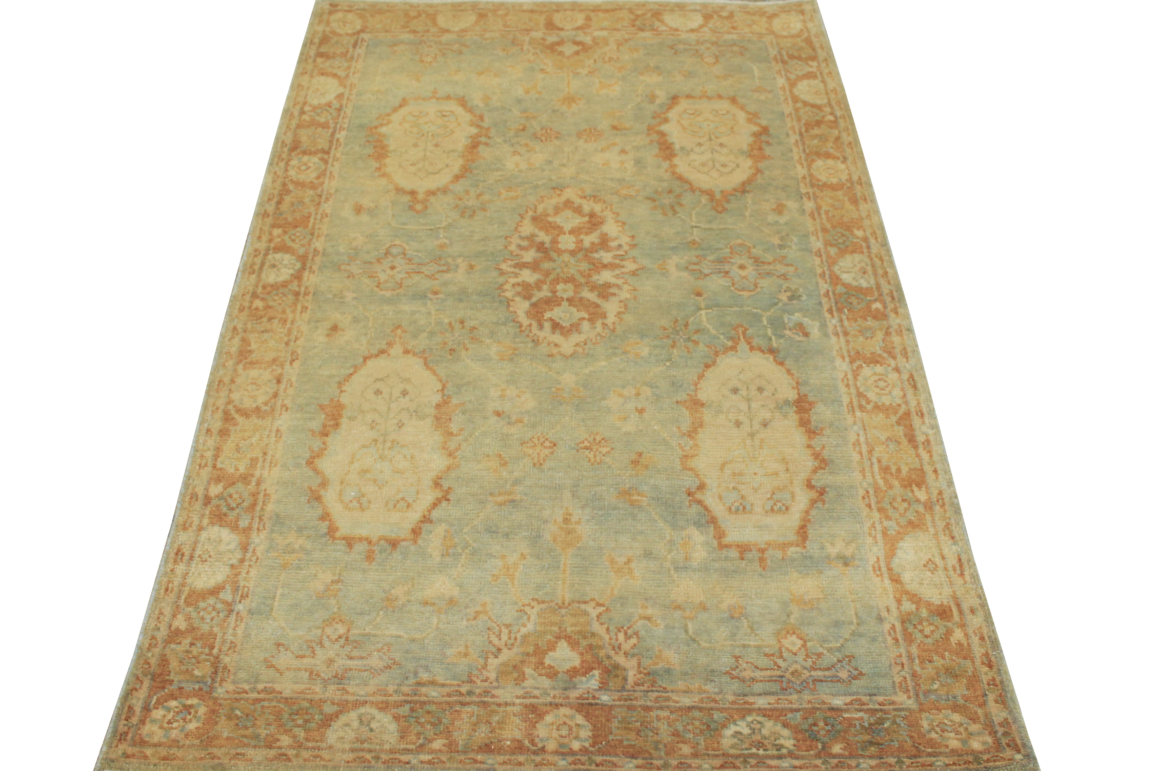 4x6 Oushak Hand Knotted Wool Area Rug - MR14865