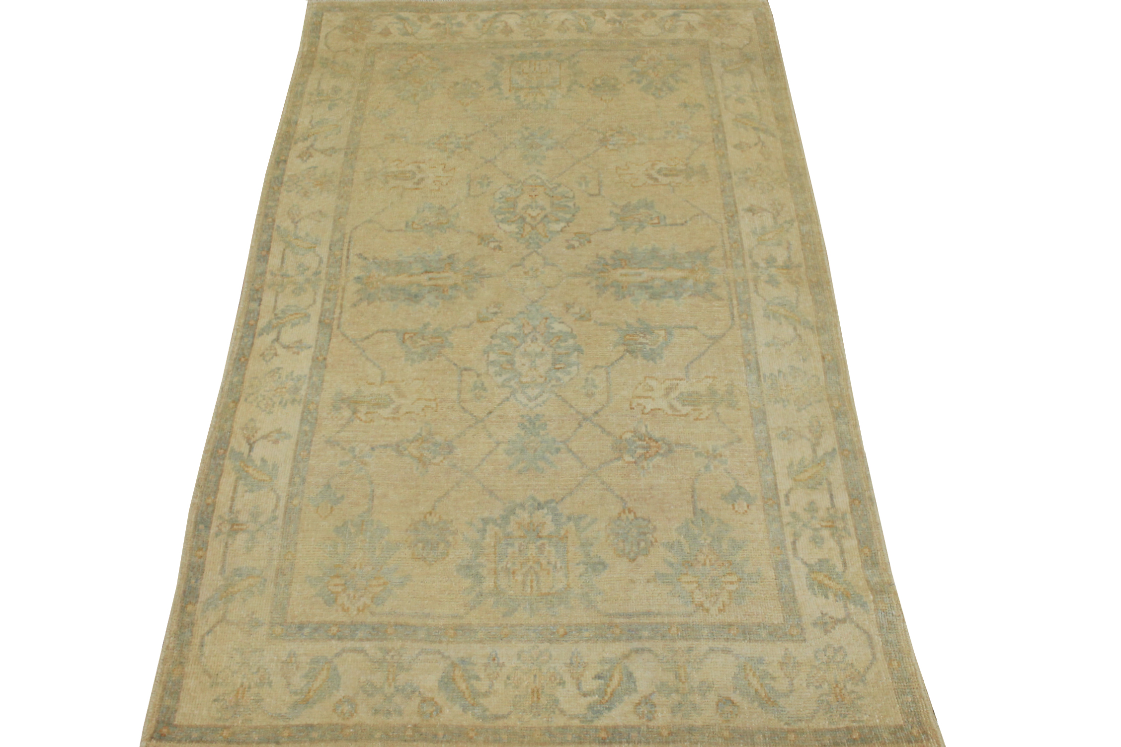 4x6 Oushak Hand Knotted Wool Area Rug - MR14866