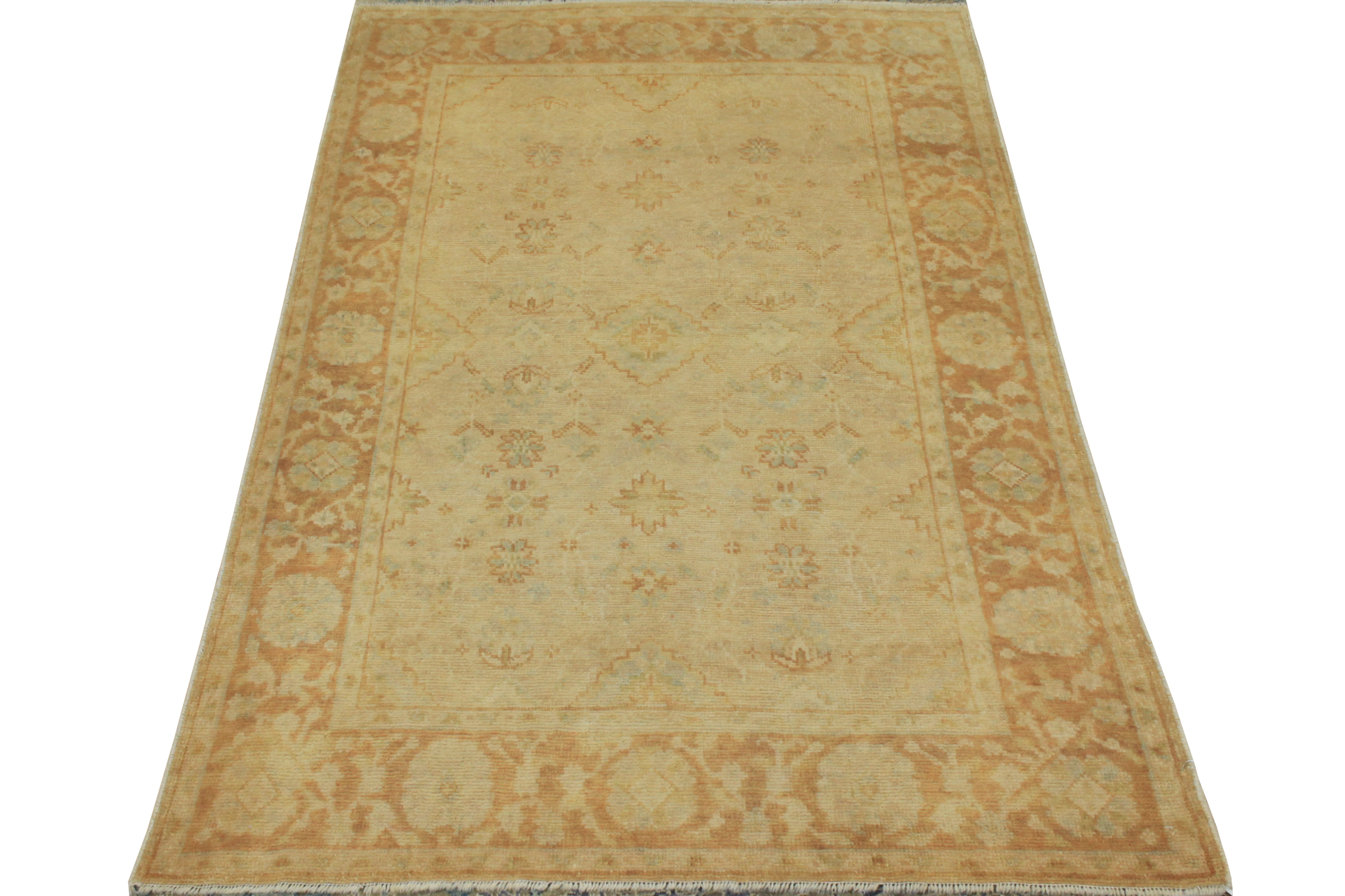 4x6 Oushak Hand Knotted Wool Area Rug - MR14868