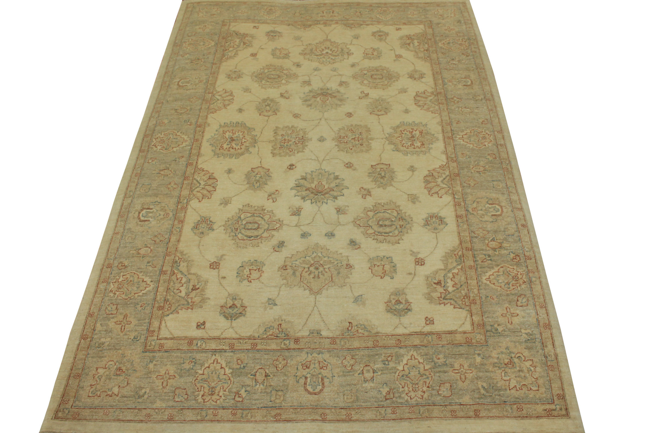 6x9 Peshawar Hand Knotted Wool Area Rug - MR14982