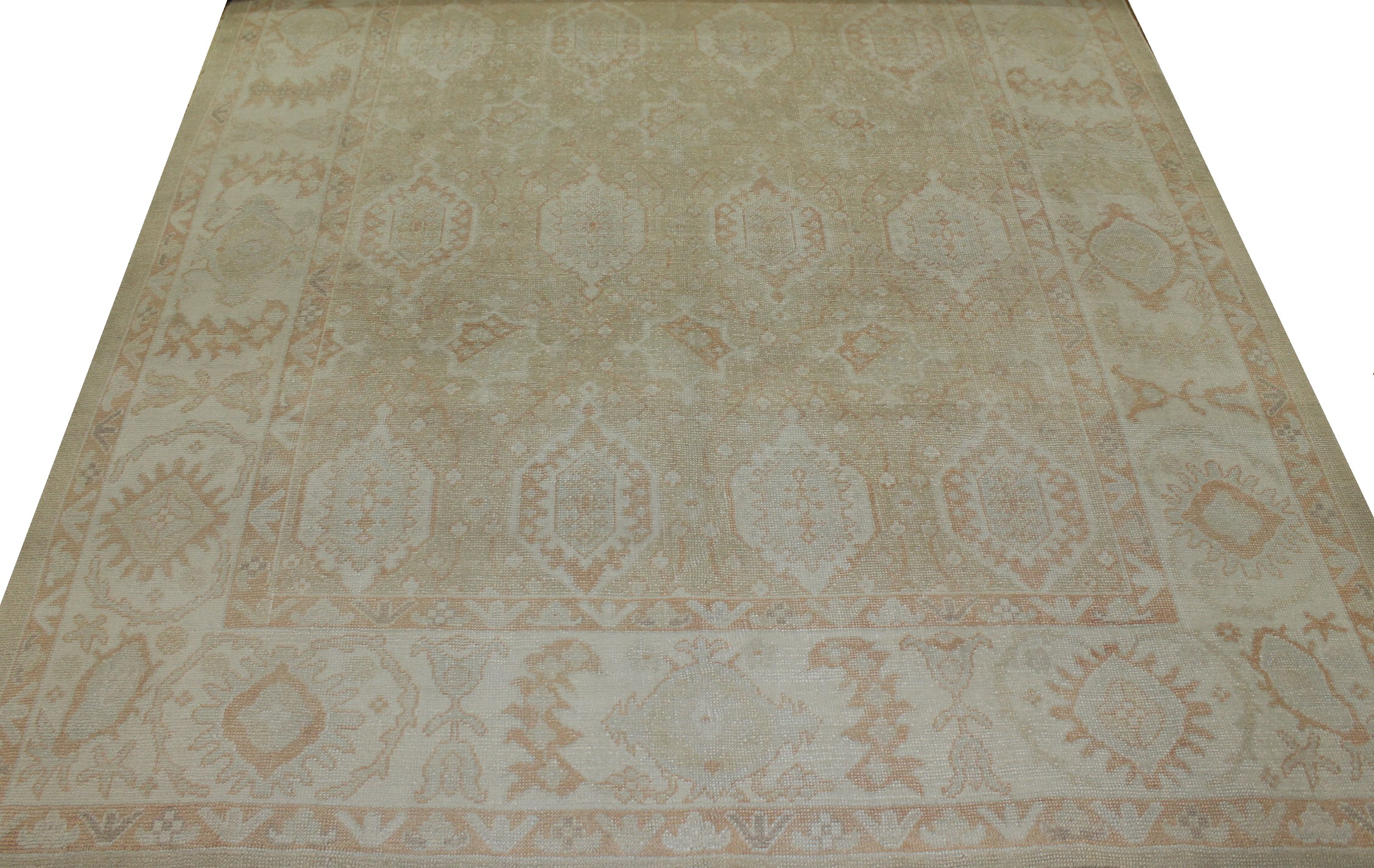 10x14 Oushak Hand Knotted Wool Area Rug - MR15242