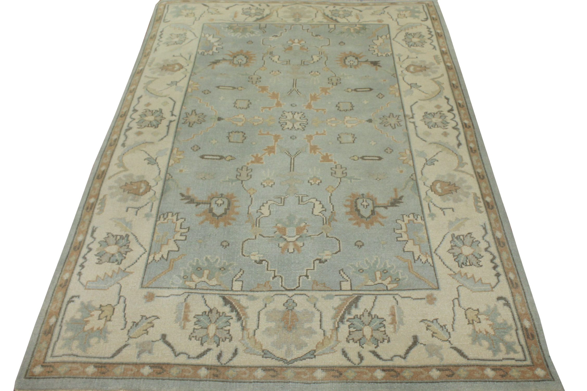 6x9 Oushak Hand Knotted Wool Area Rug - MR15278