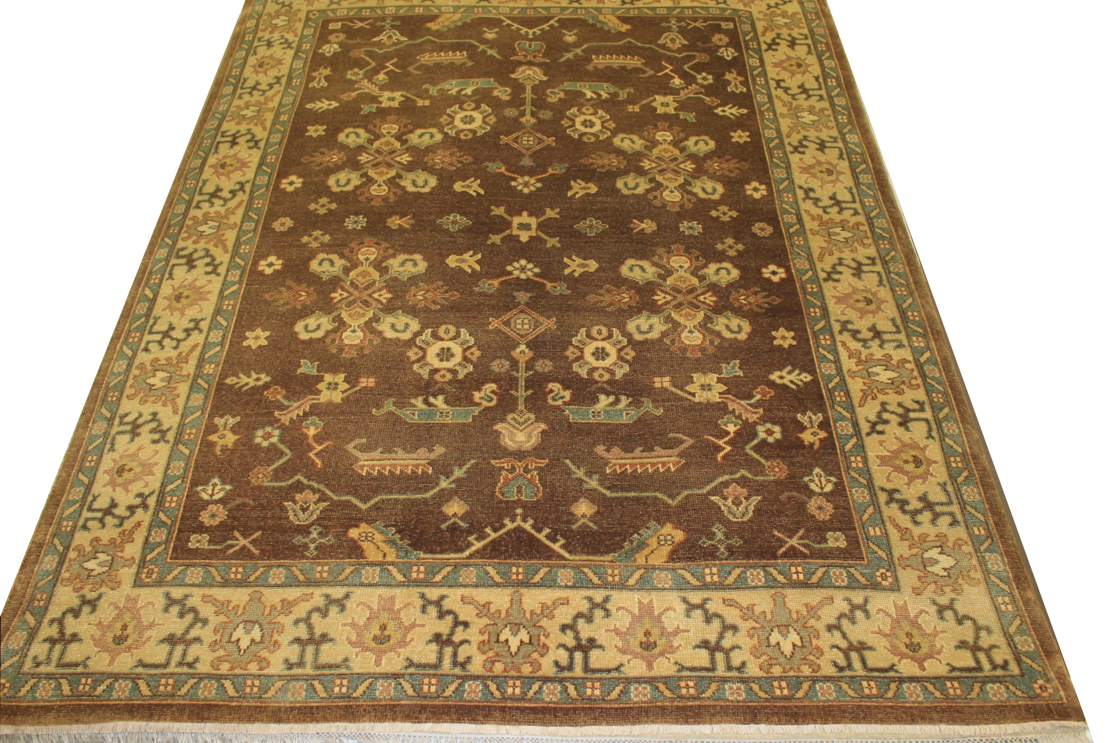 8x10 Oushak Hand Knotted Wool Area Rug - MR15284