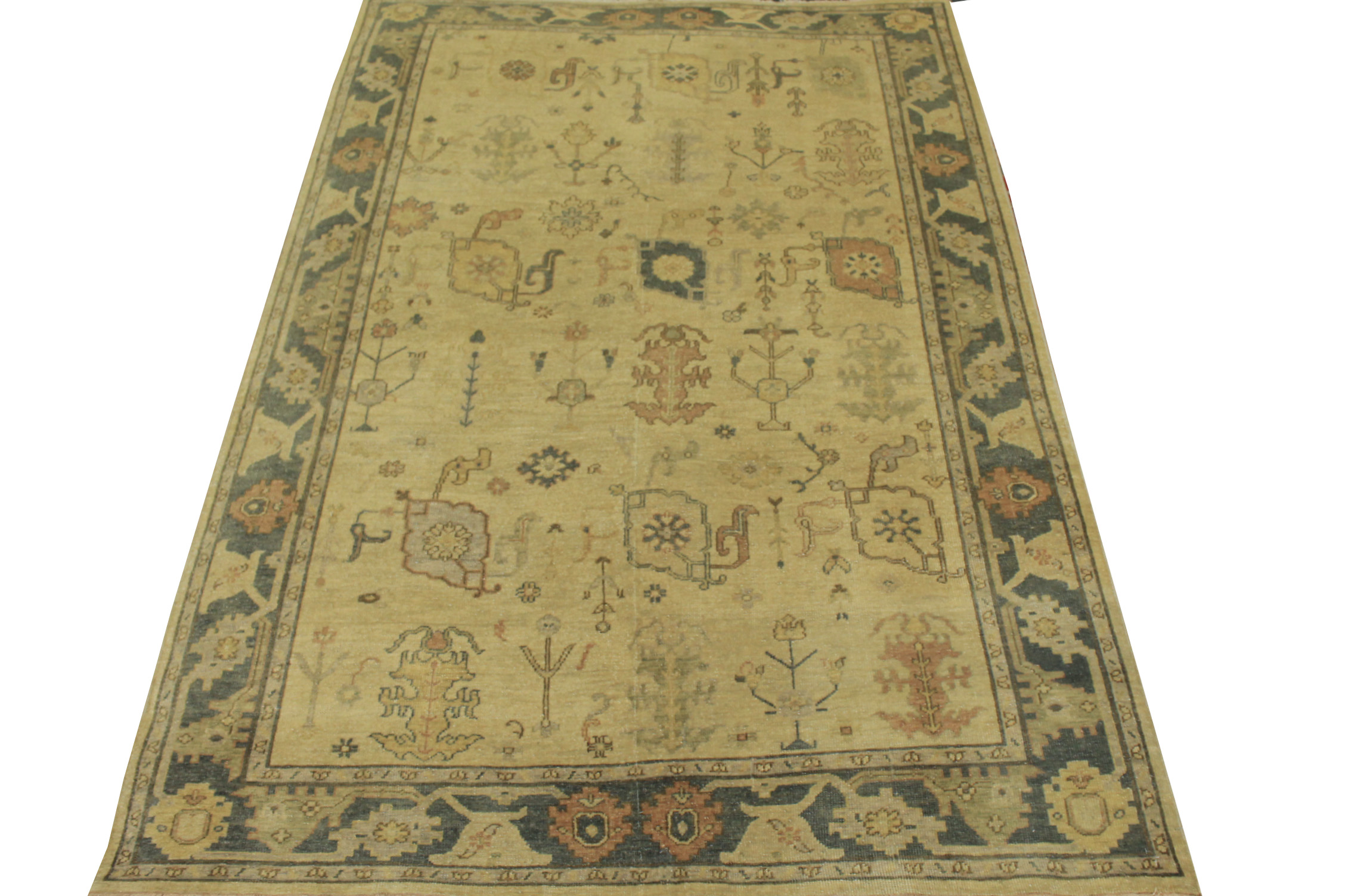 6x9 Oushak Hand Knotted Wool Area Rug - MR15289