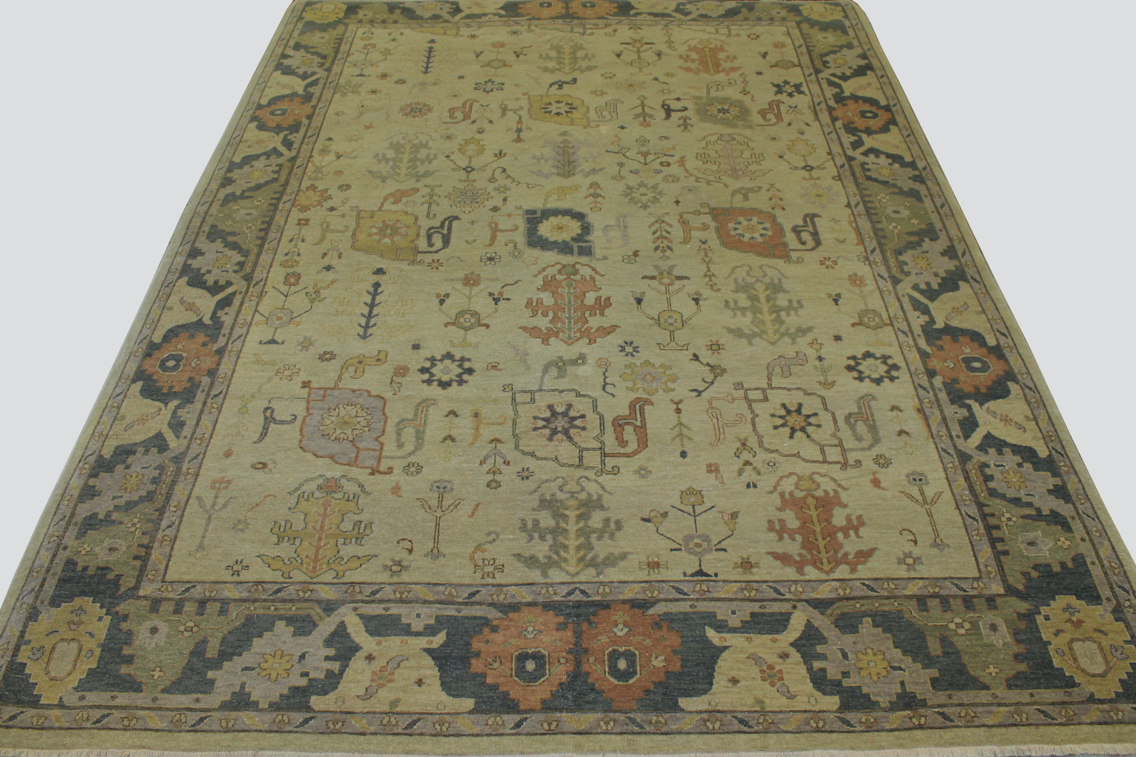 9x12 Oushak Hand Knotted Wool Area Rug - MR15295