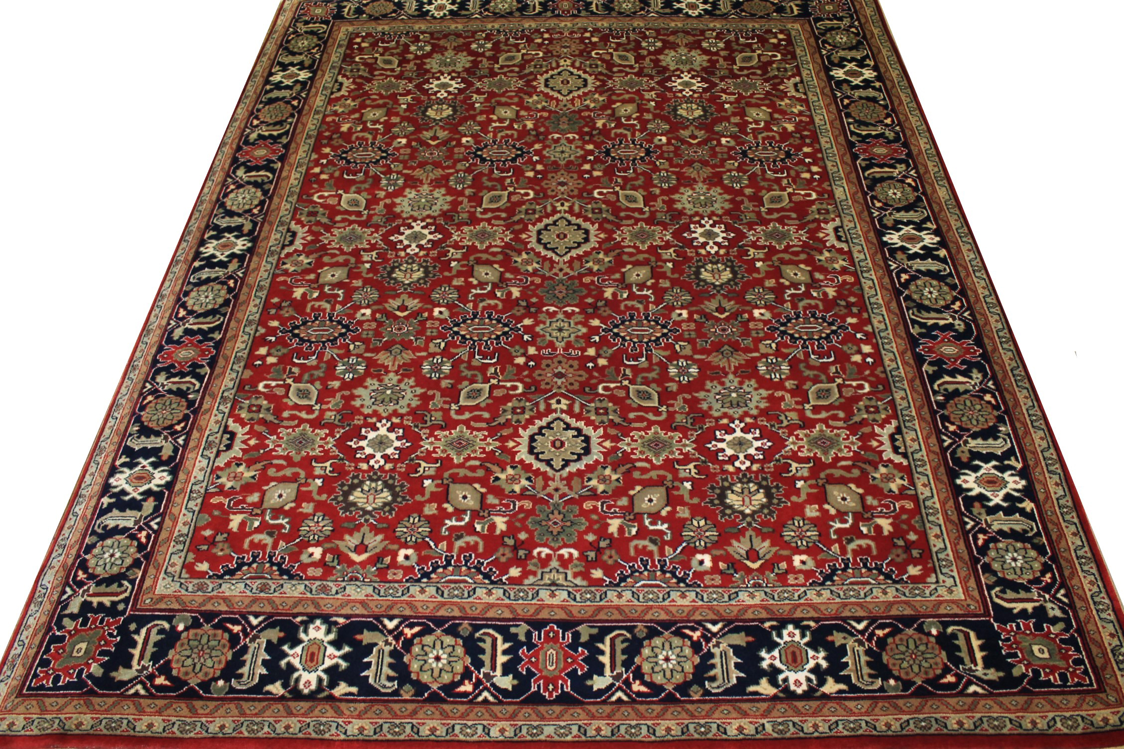 8x10 Traditional Hand Knotted Wool Area Rug - MR15308