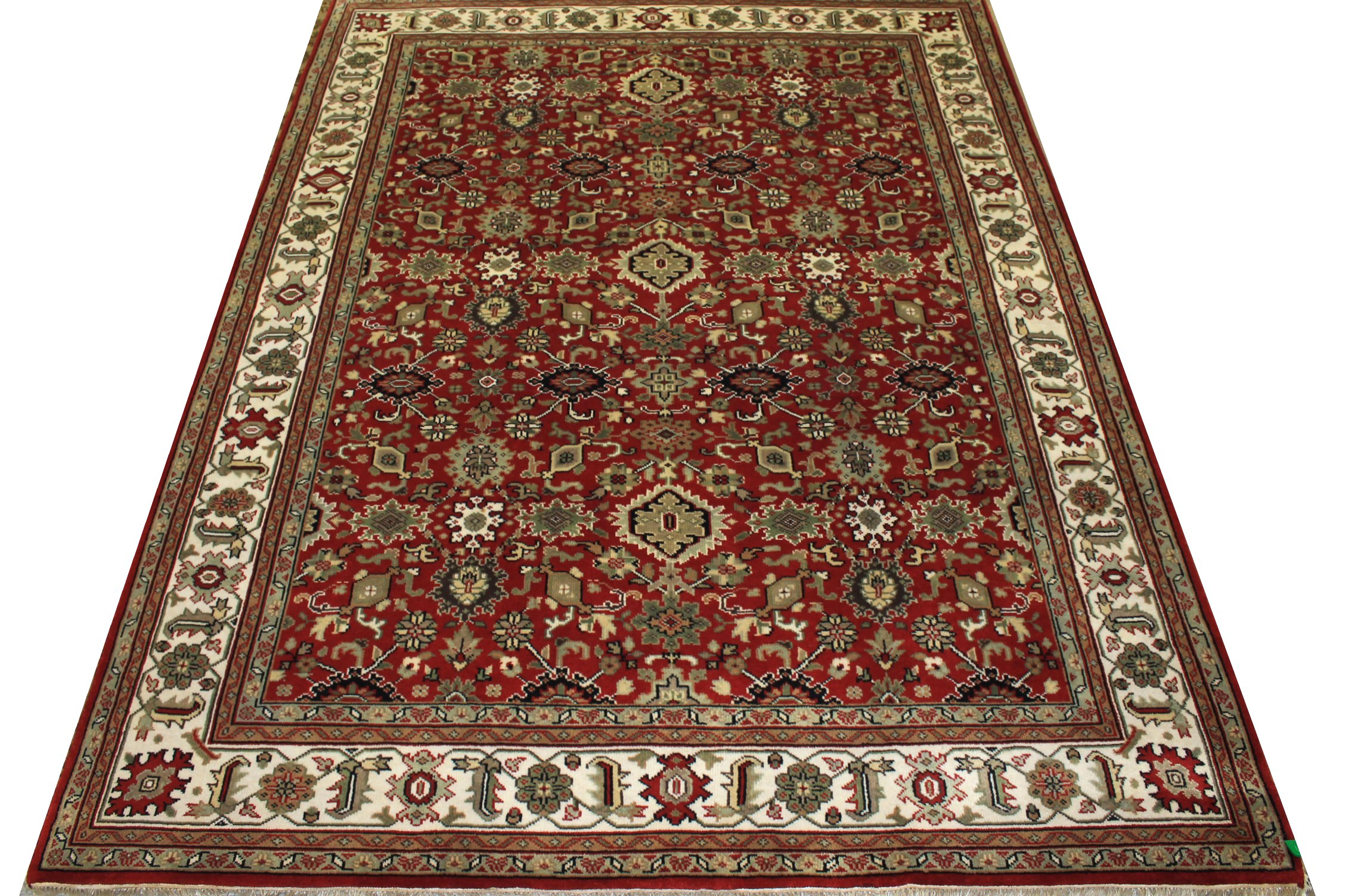 8x10 Traditional Hand Knotted Wool Area Rug - MR15310