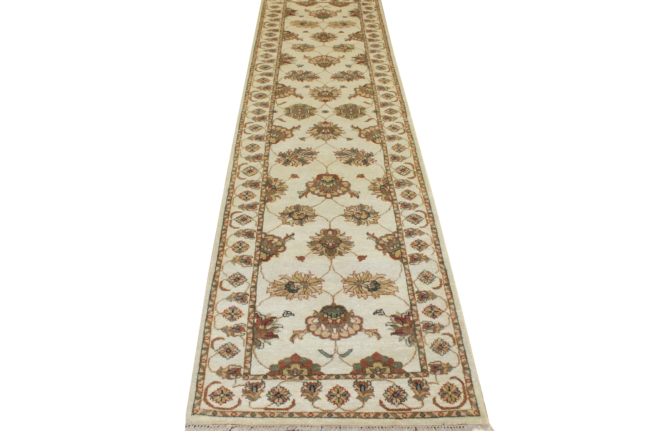 10 ft. Runner Traditional Hand Knotted Wool Area Rug - MR15662