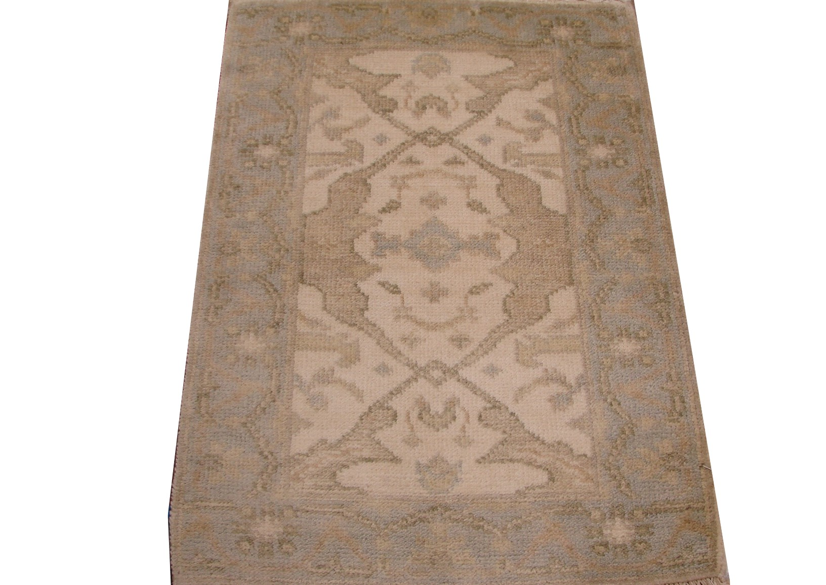 2X3 Oushak Hand Knotted Wool Area Rug - MR15796