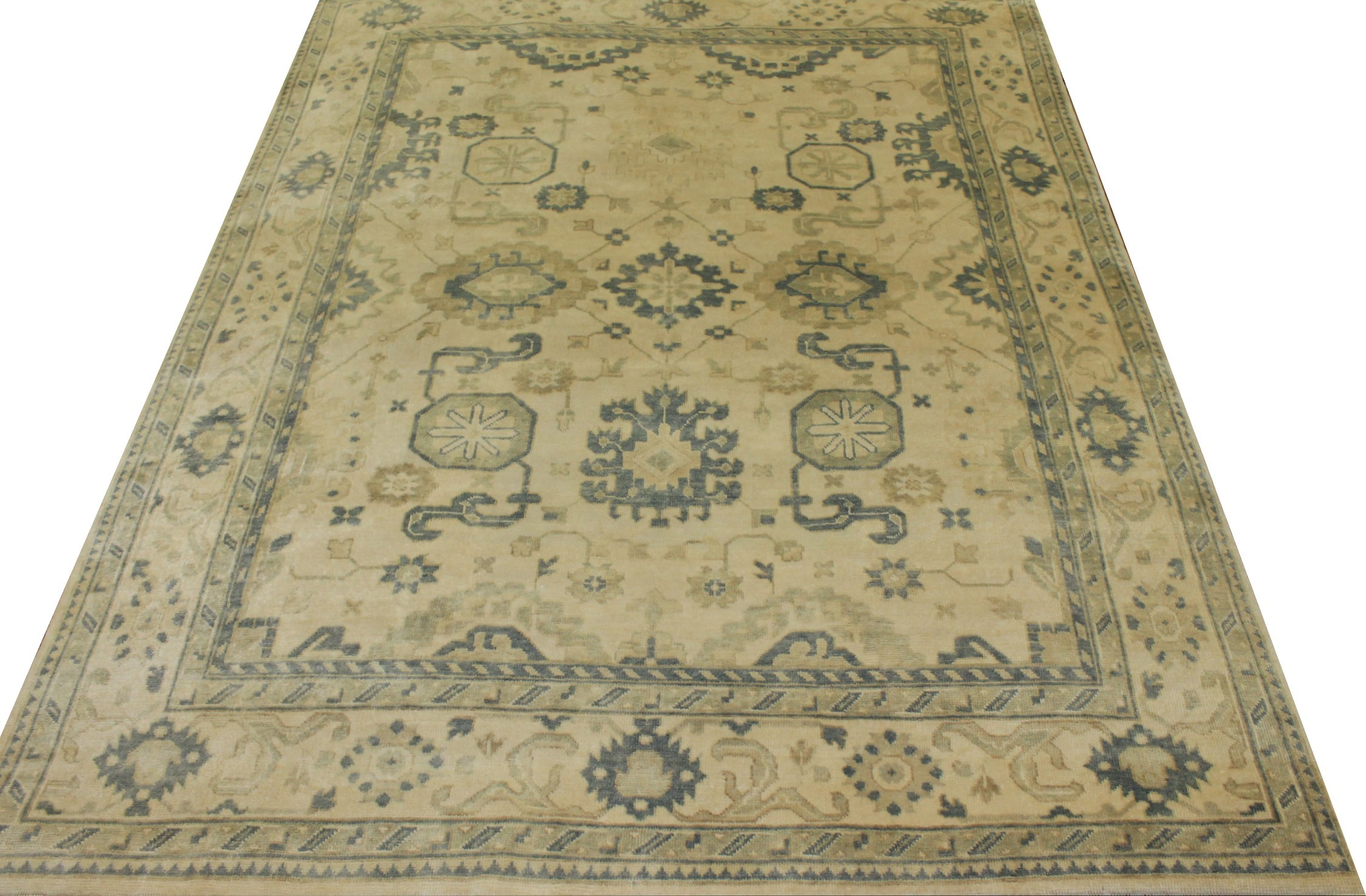 8x10 Oushak Hand Knotted Wool Area Rug - MR15800