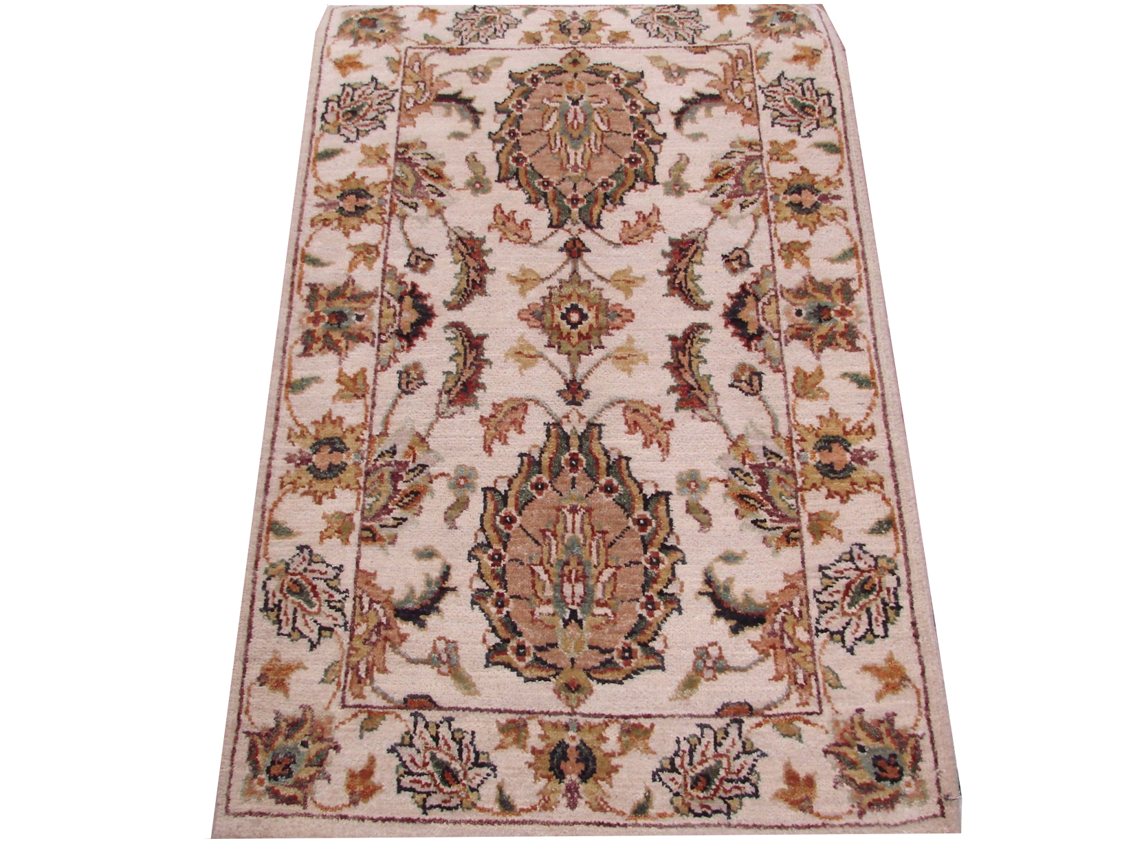 2X3 Traditional Hand Knotted Wool Area Rug - MR15891