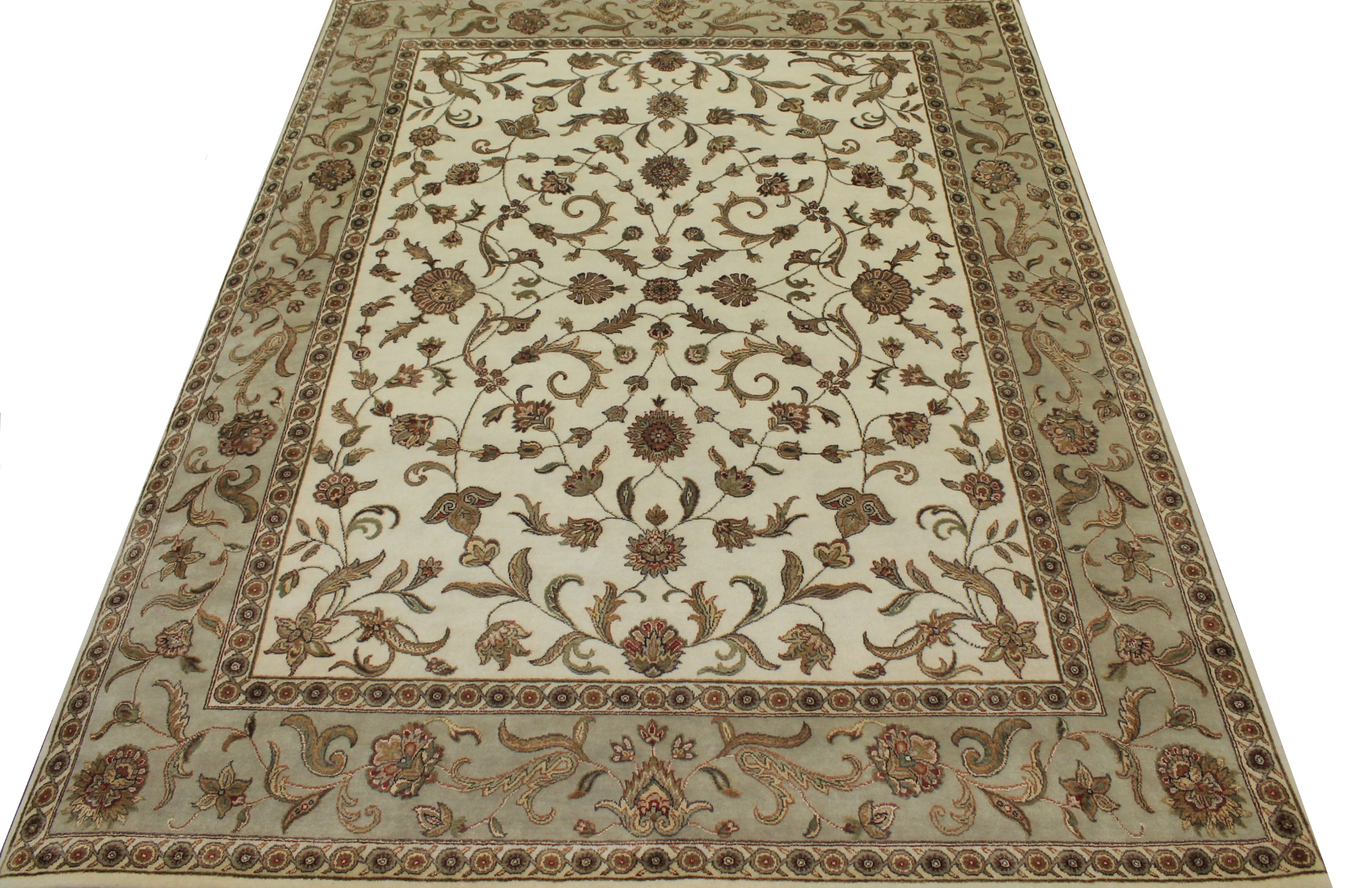 8x10 Silk Flower Hand Knotted Wool Area Rug - MR16013