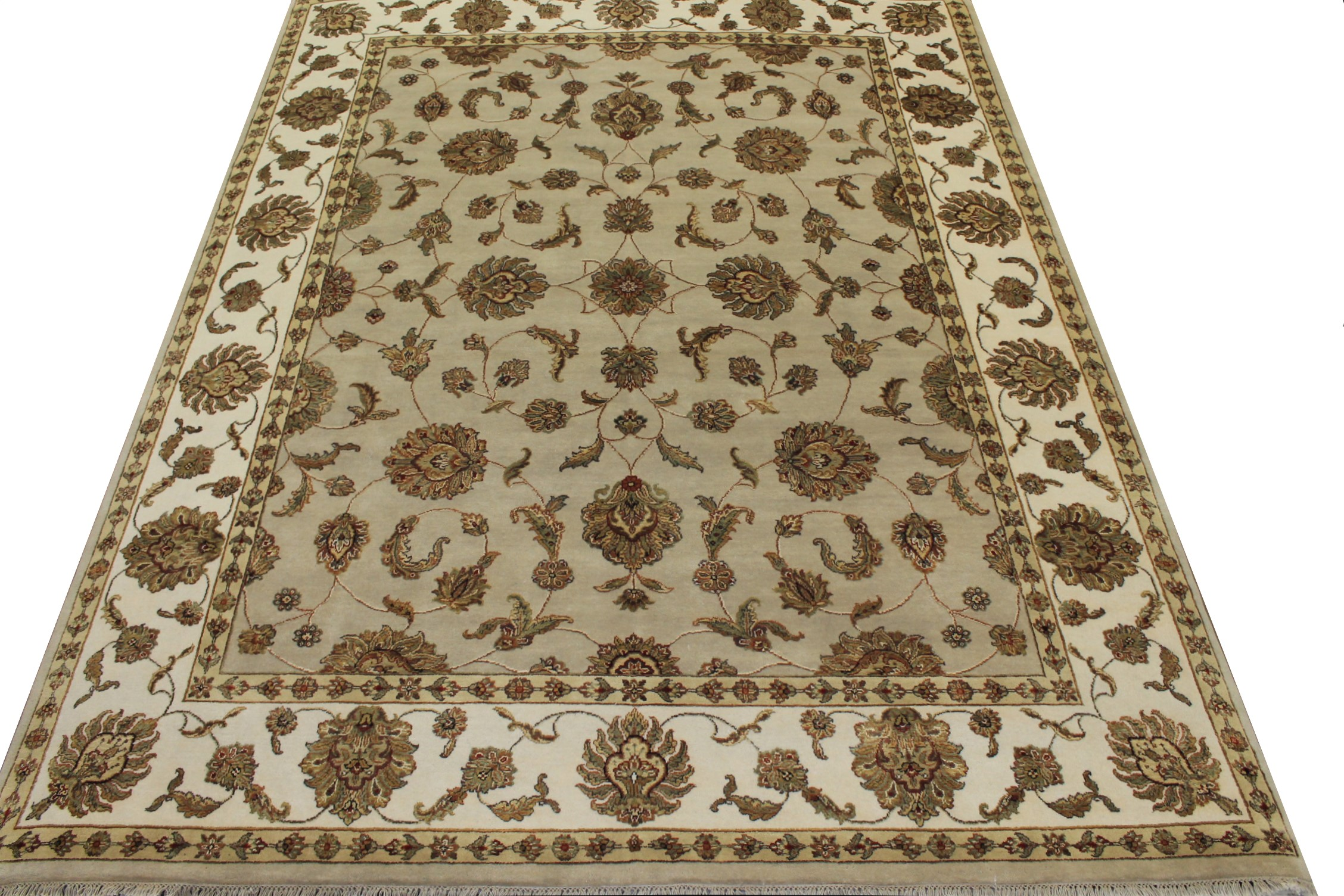 8x10 Silk Flower Hand Knotted Wool Area Rug - MR16014