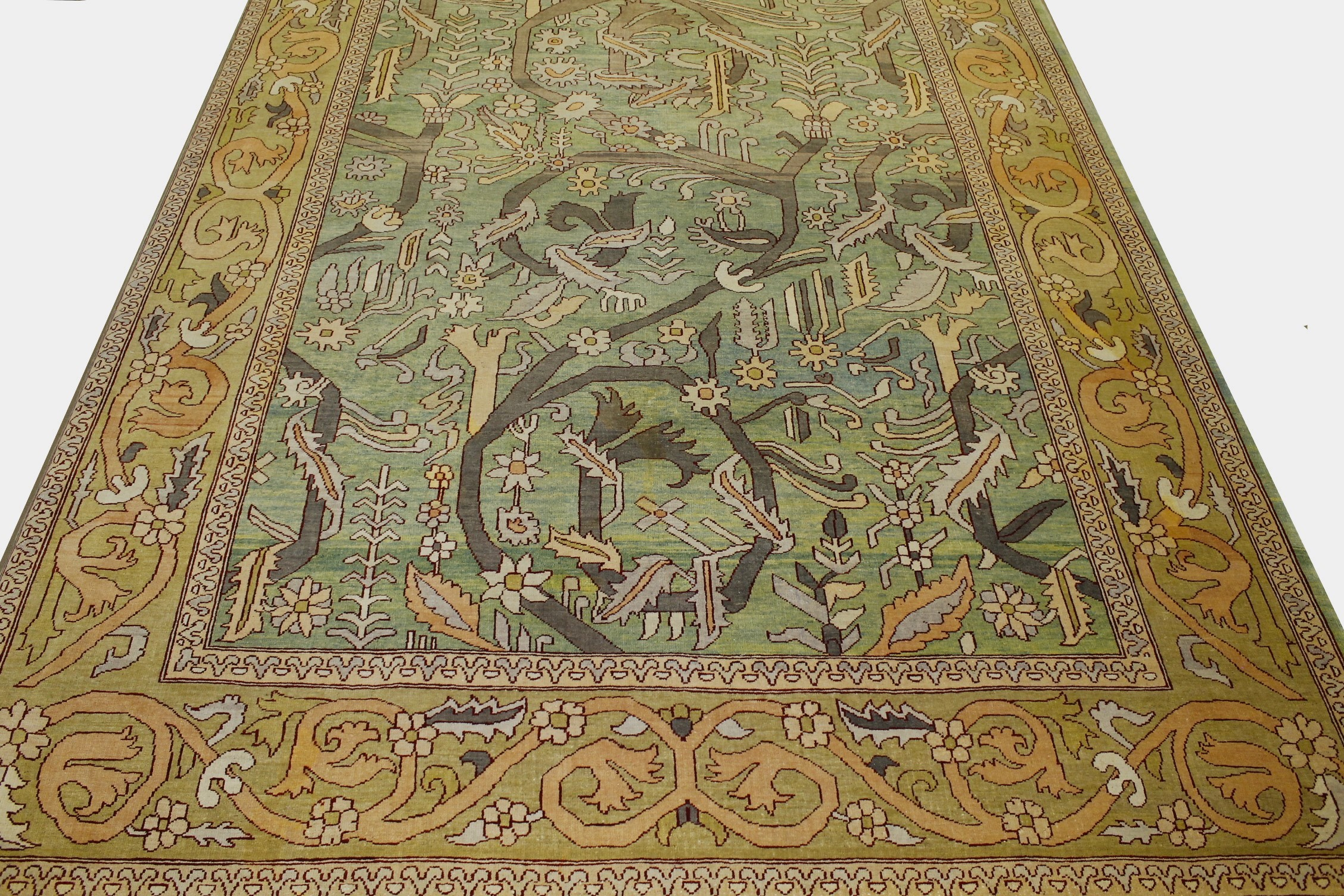 10x14 Oushak Hand Knotted Wool Area Rug - MR16042