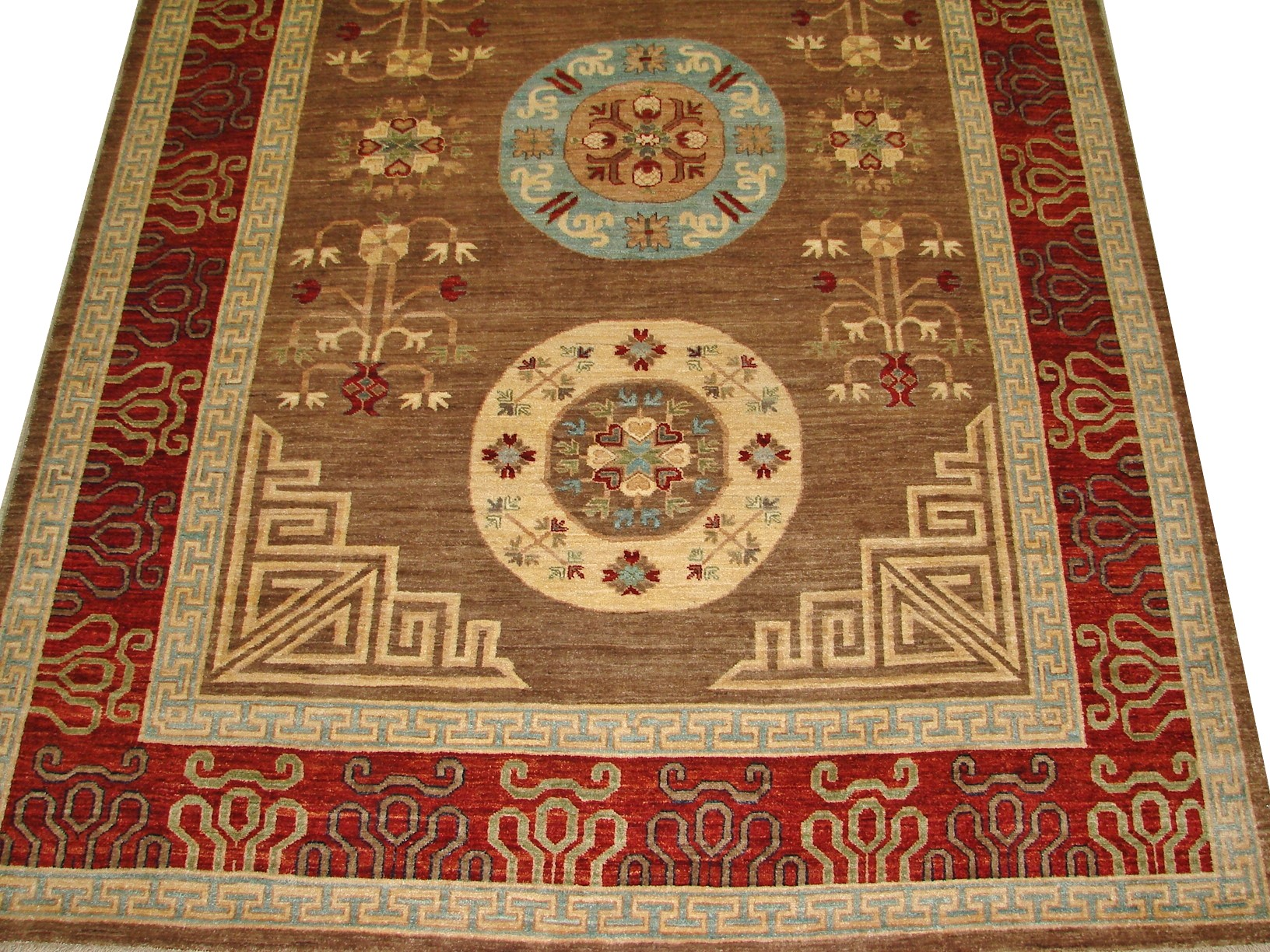 8x10 Peshawar Hand Knotted Wool Area Rug - MR16136