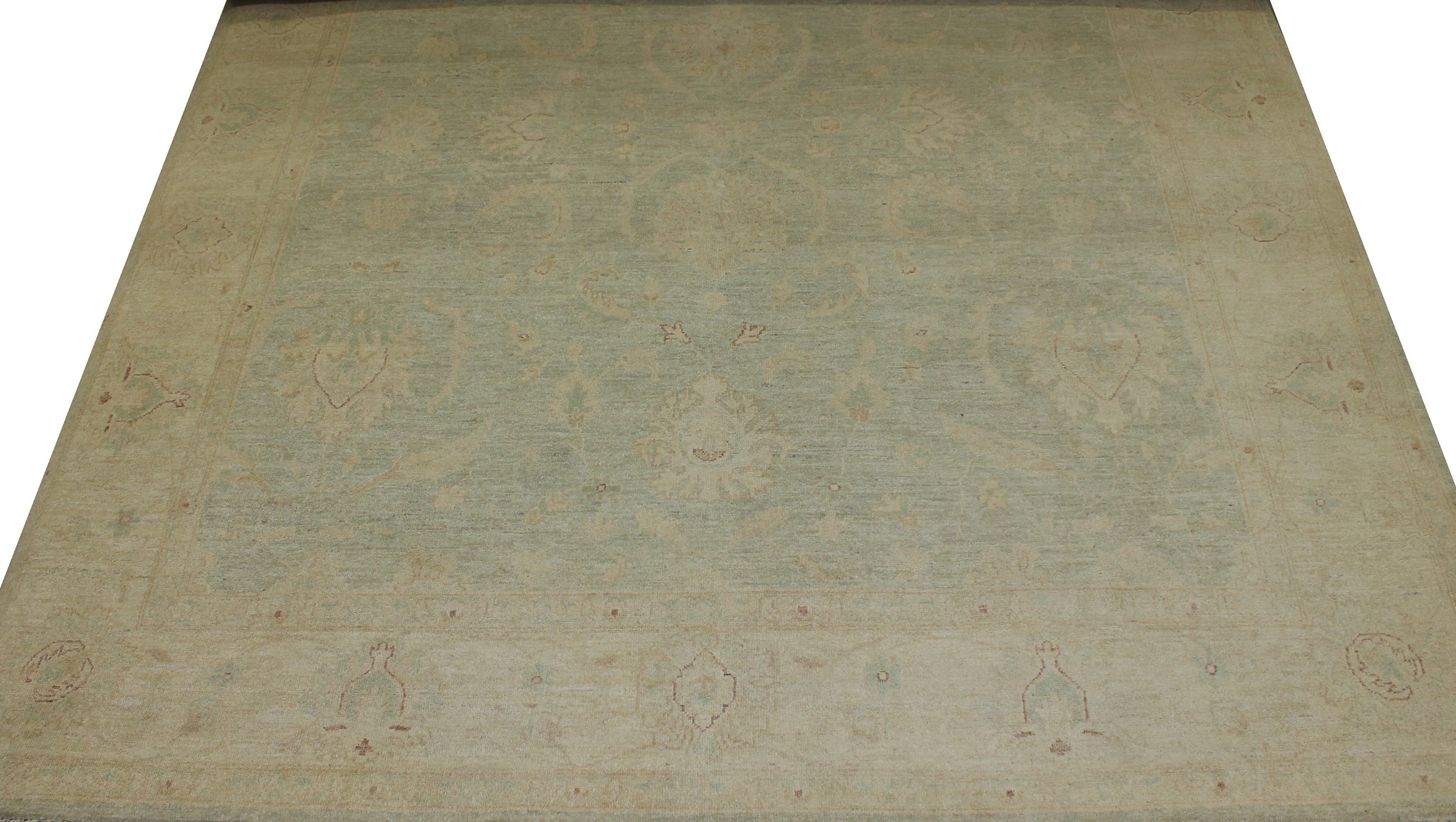 8x10 Peshawar Hand Knotted Wool Area Rug - MR16177