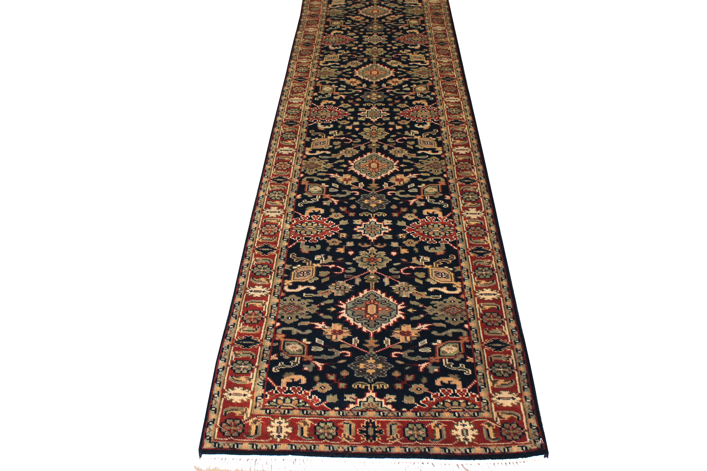10 ft. Runner Traditional Hand Knotted Wool Area Rug - MR1621