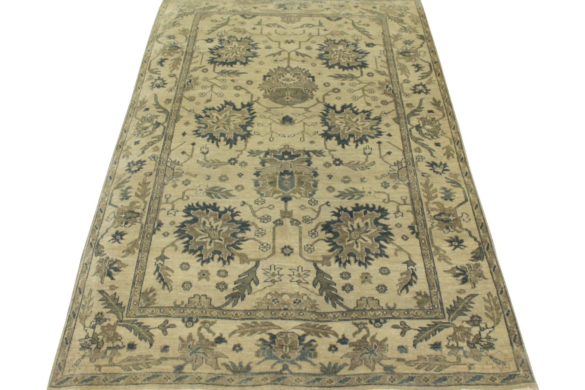 6x9 Oushak Hand Knotted Wool Area Rug - MR16223