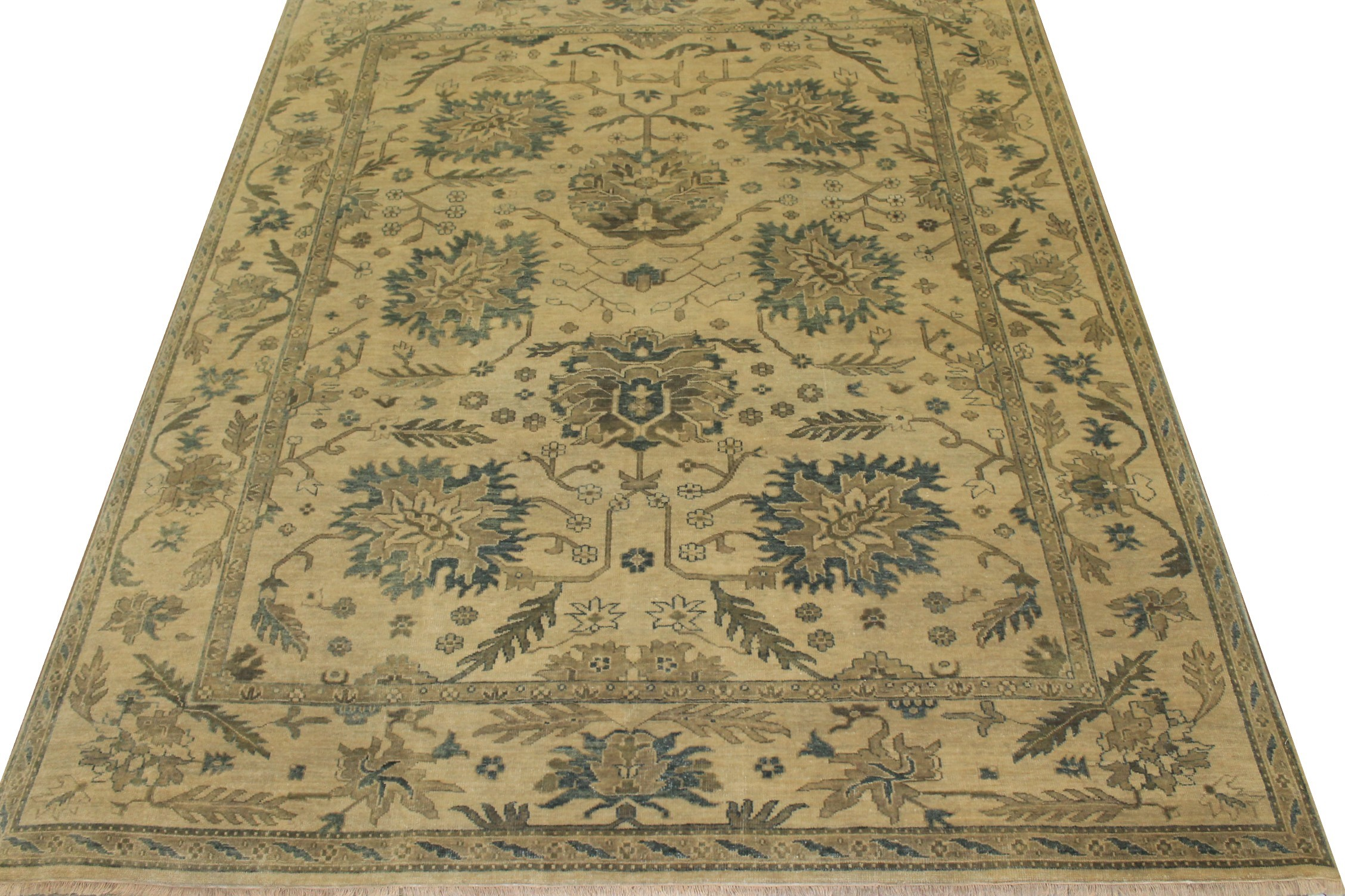 8x10 Oushak Hand Knotted Wool Area Rug - MR16224