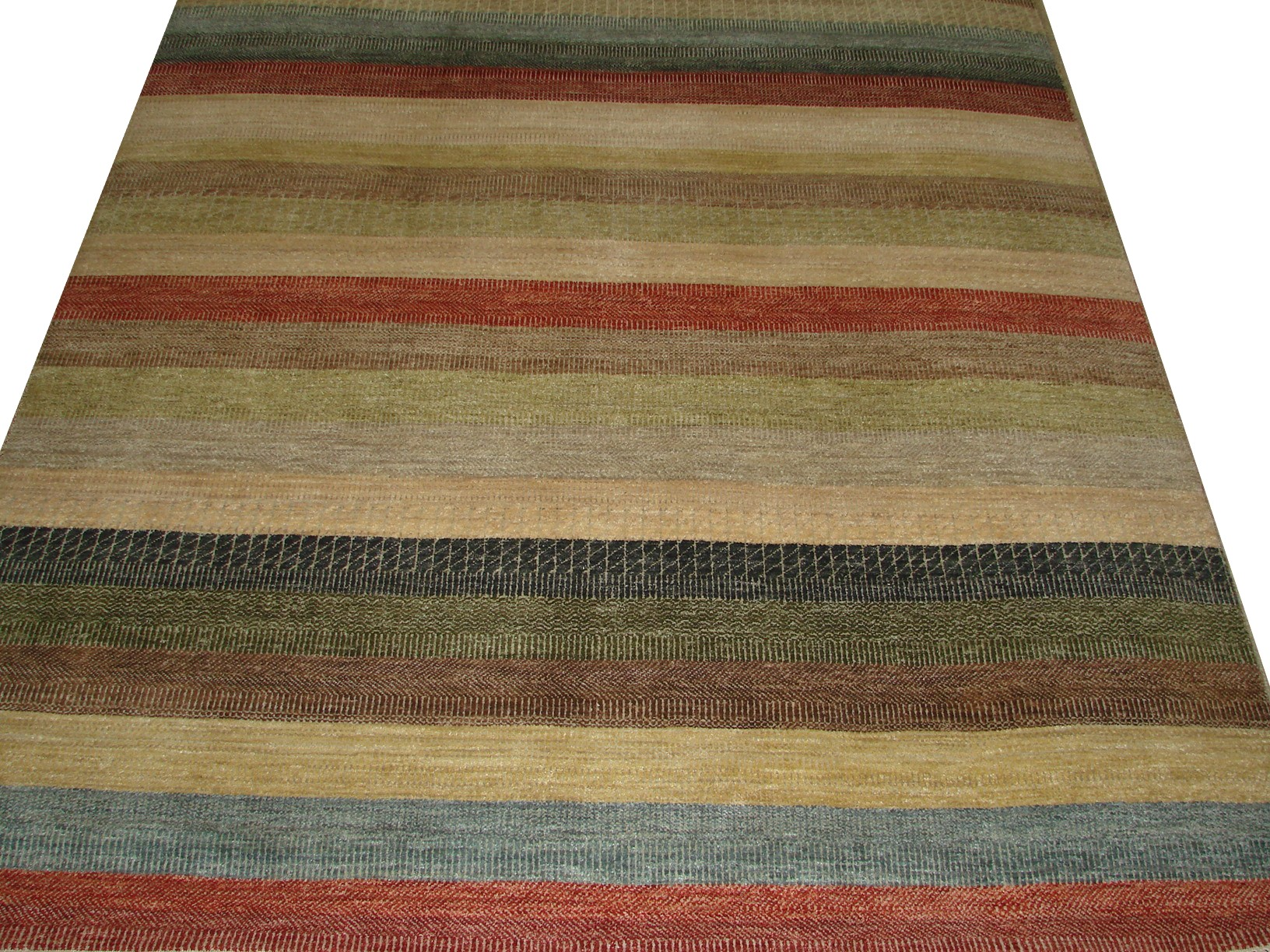 6x9 Contemporary Hand Knotted Wool Area Rug - MR16228
