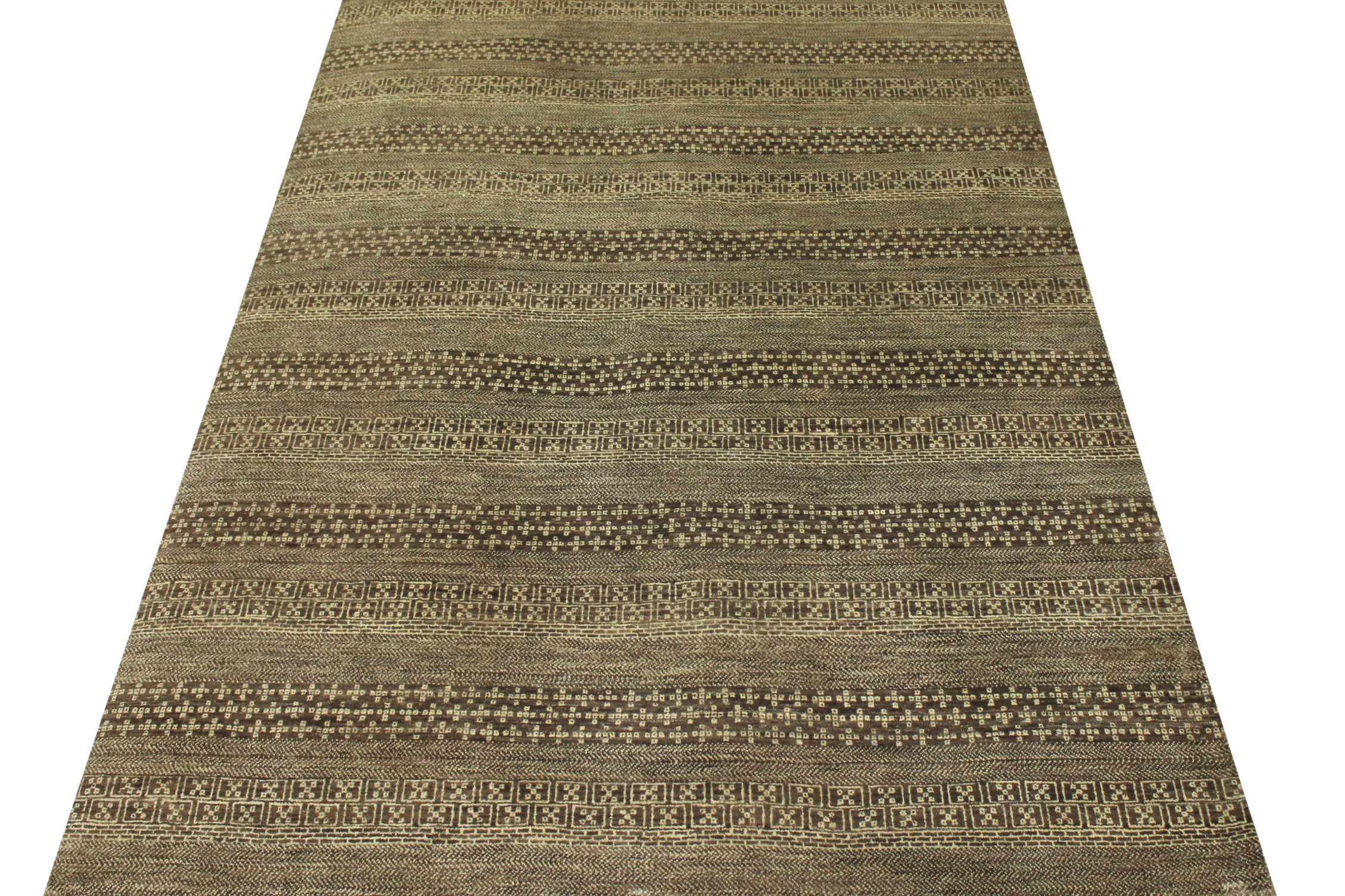 6x9 Contemporary Hand Knotted Wool Area Rug - MR16232