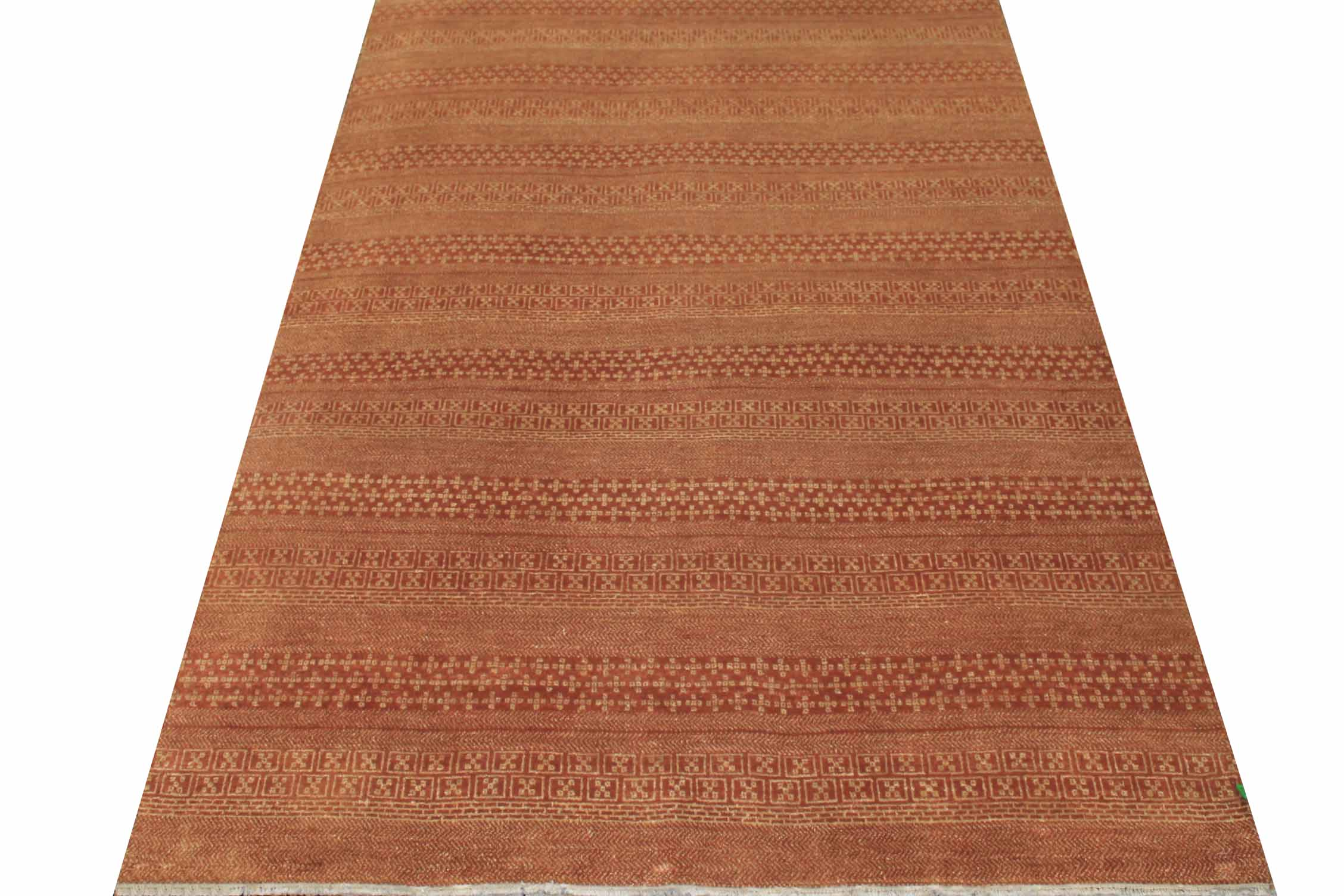 6x9 Contemporary Hand Knotted Wool Area Rug - MR16233