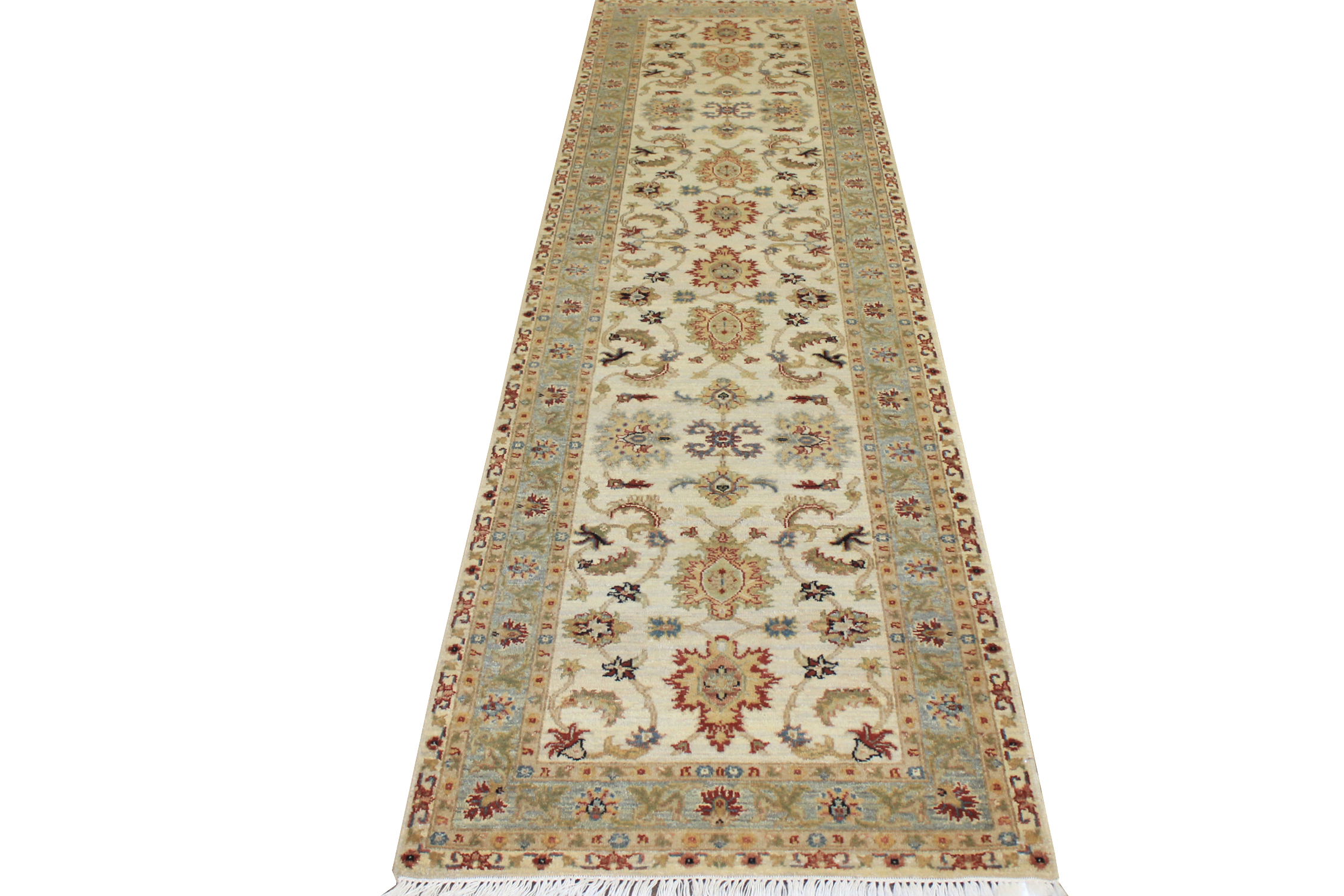 10 ft. Runner Traditional Hand Knotted Wool Area Rug - MR16253