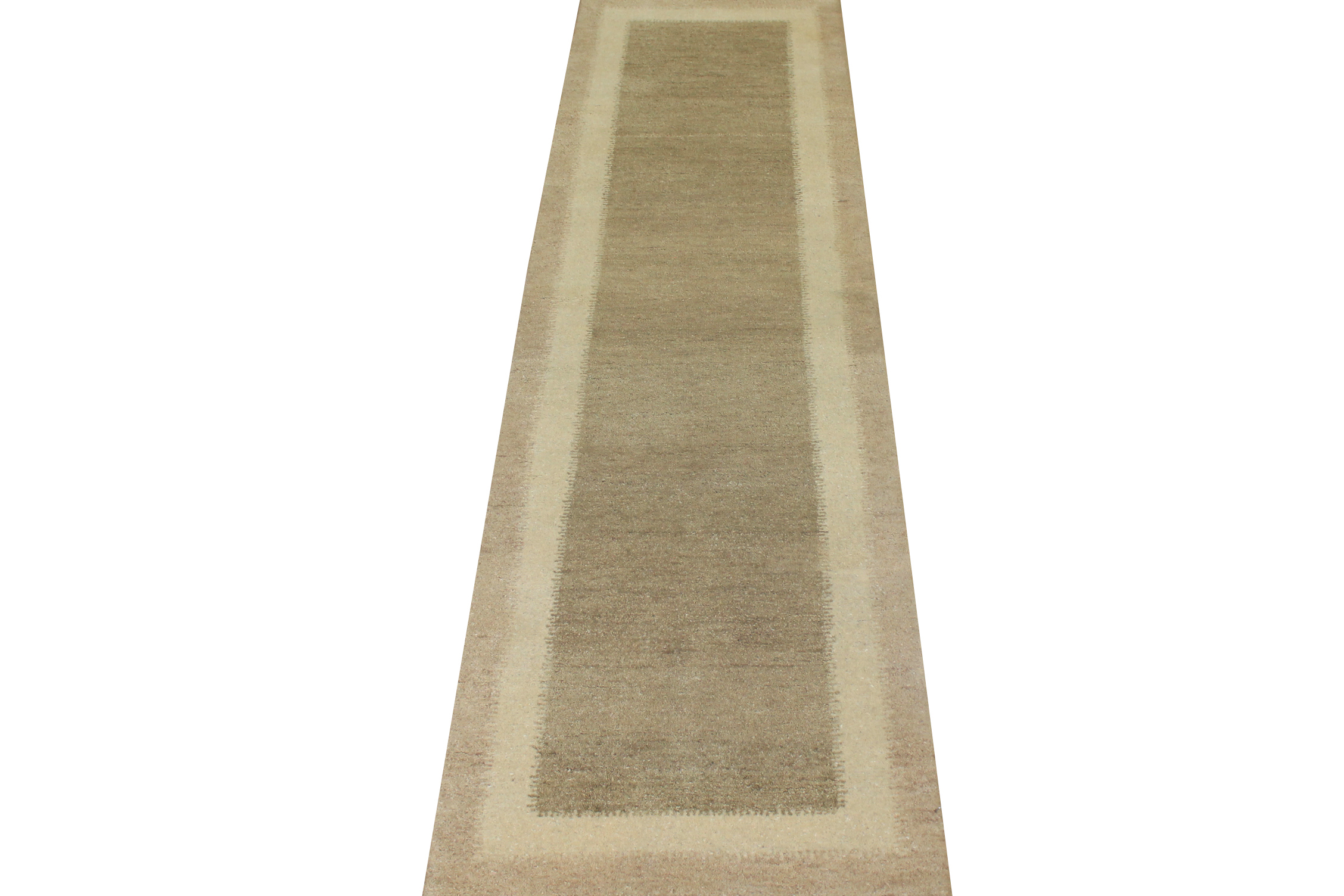 10 ft. Runner Contemporary Hand Knotted Wool Area Rug - MR16321