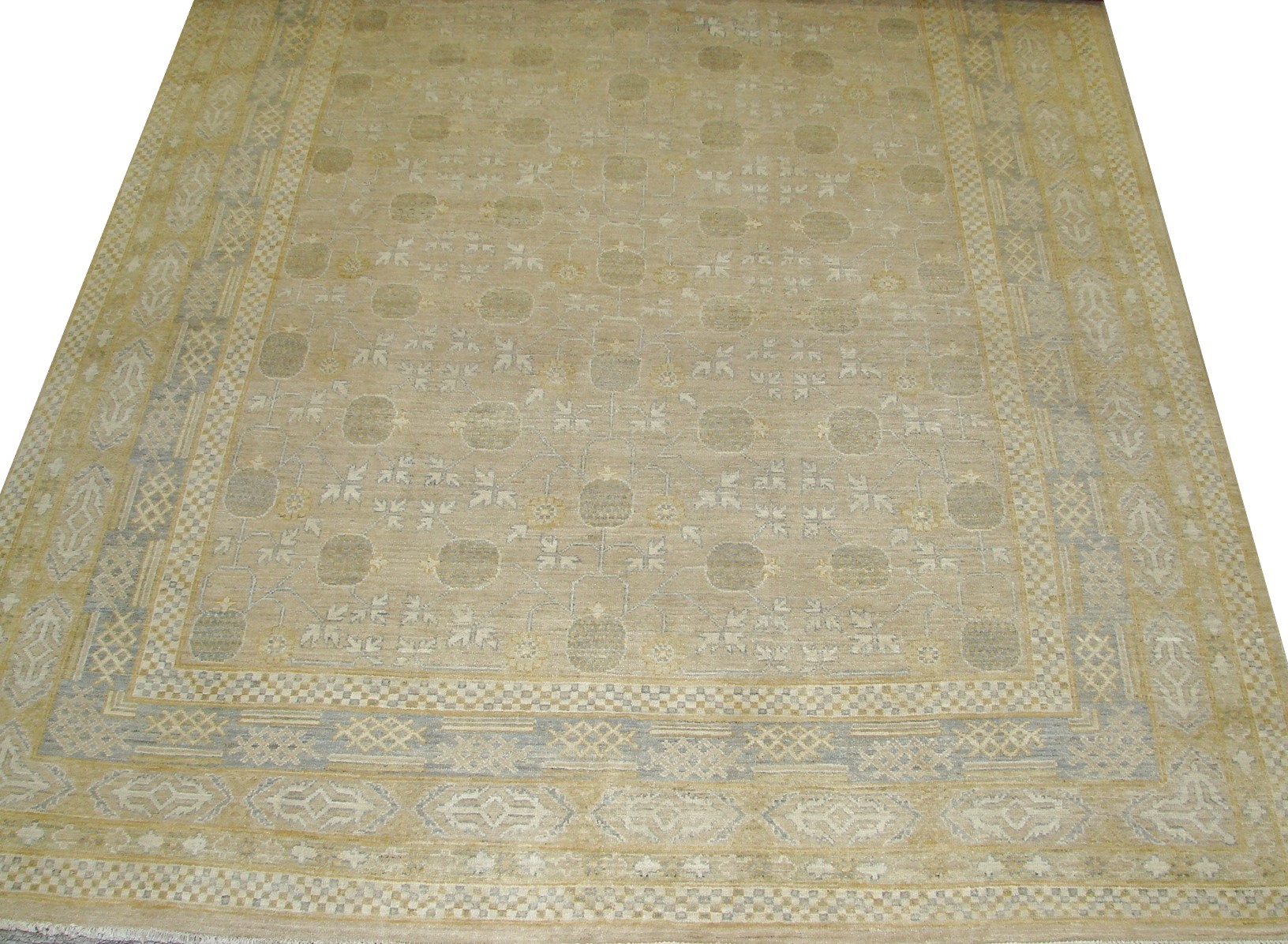 8x10 Peshawar Hand Knotted Wool Area Rug - MR16405