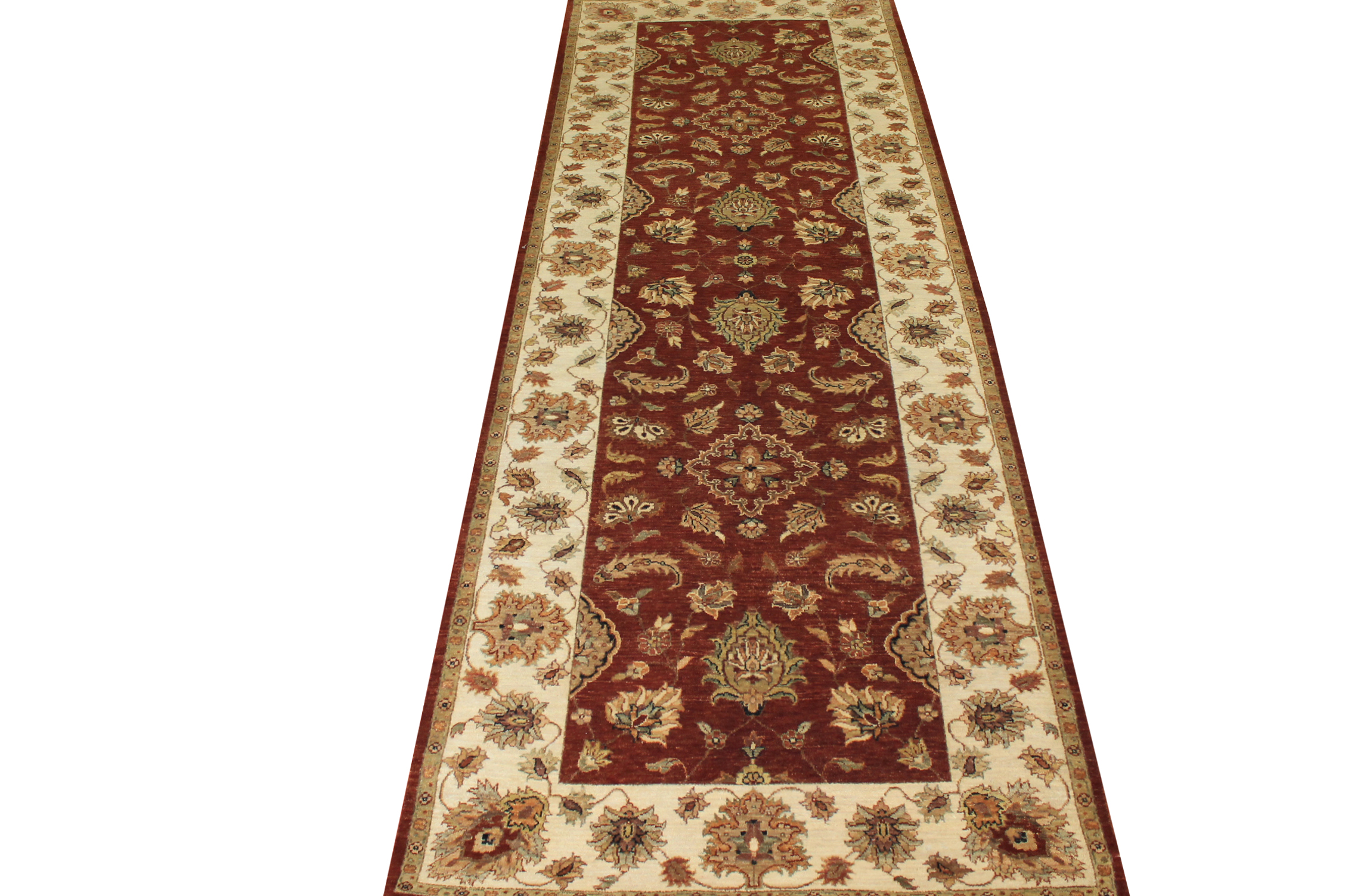 Wide Runner Traditional Hand Knotted Wool Area Rug - MR16578
