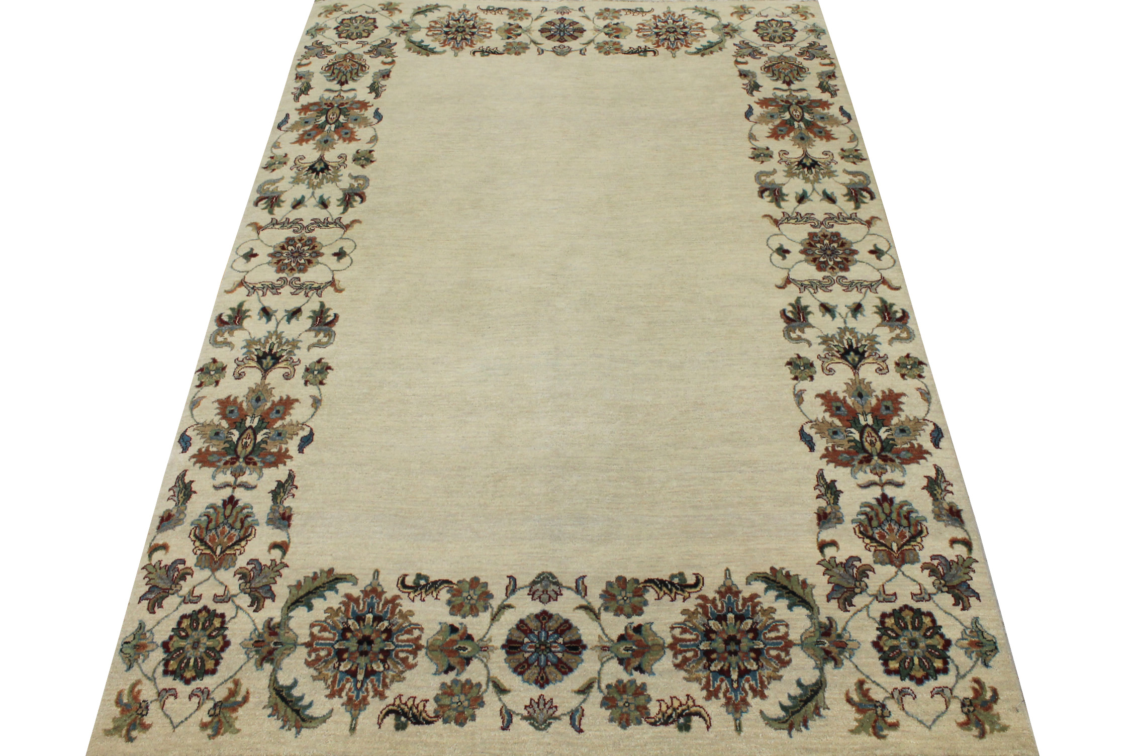5x7/8 Traditional Hand Knotted Wool Area Rug - MR16580
